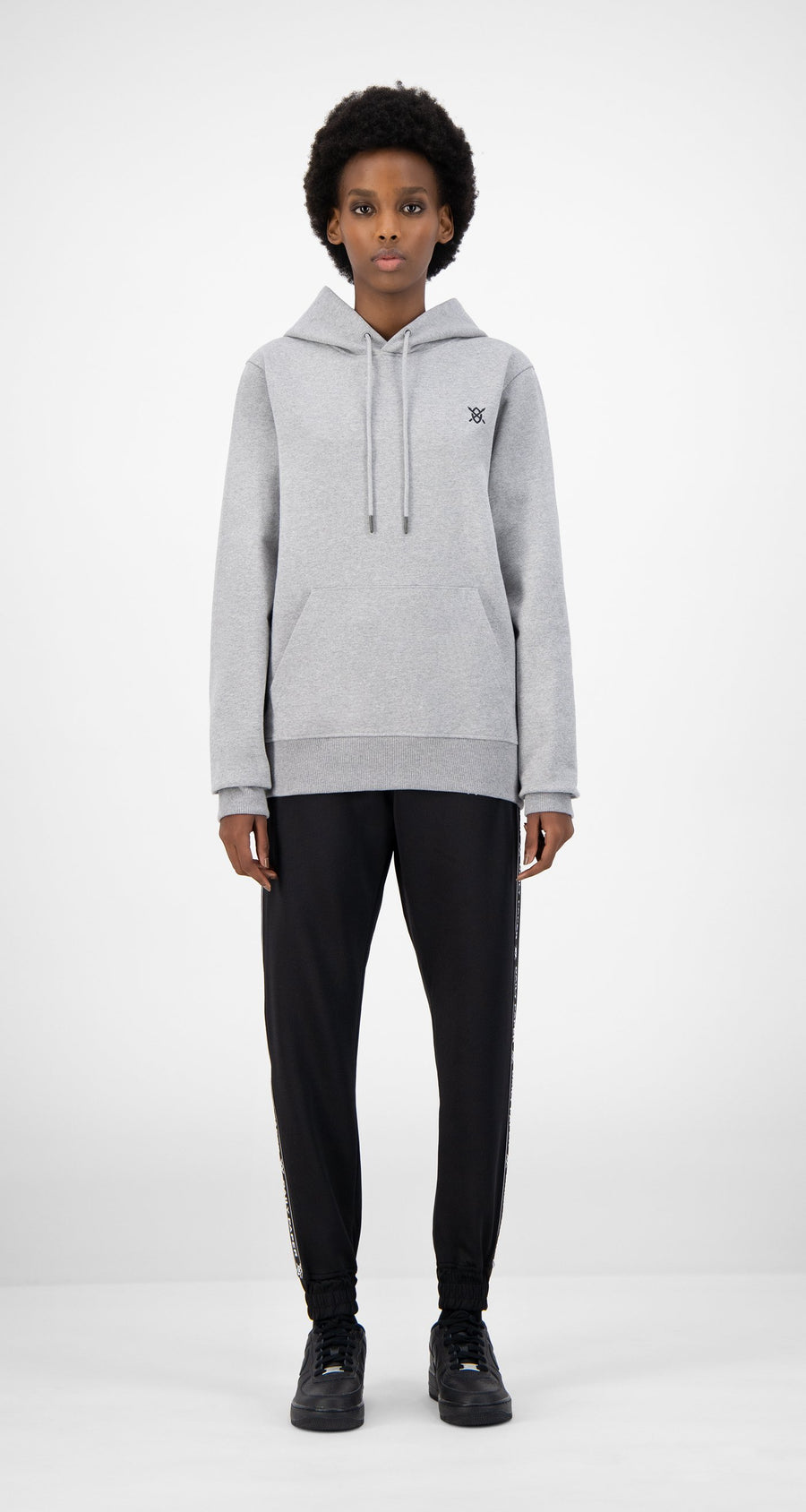 Daily Paper - Grey Eshield Hoody - Women Front