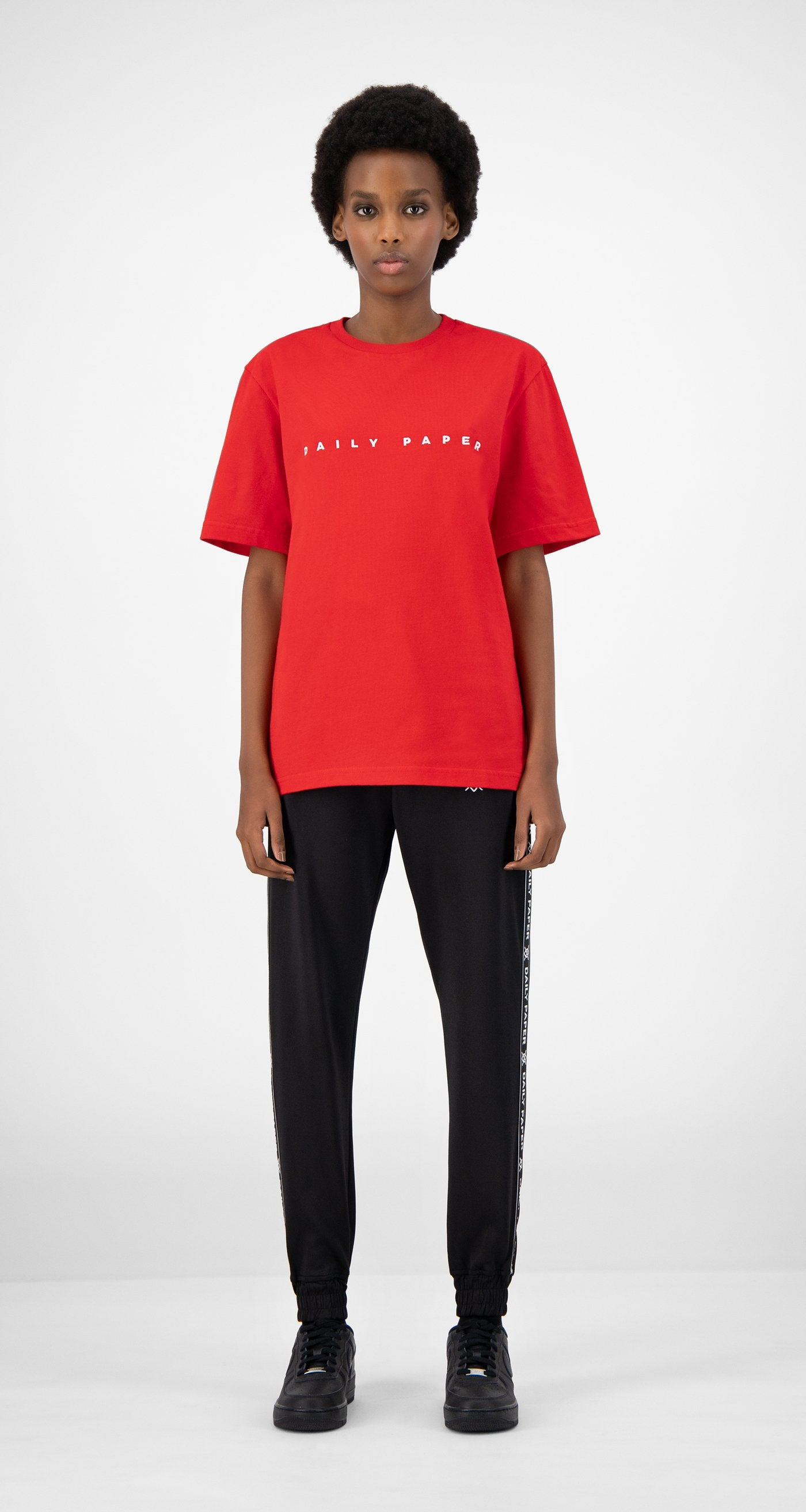 Daily Paper - Red Elias T-Shirt - Women Front