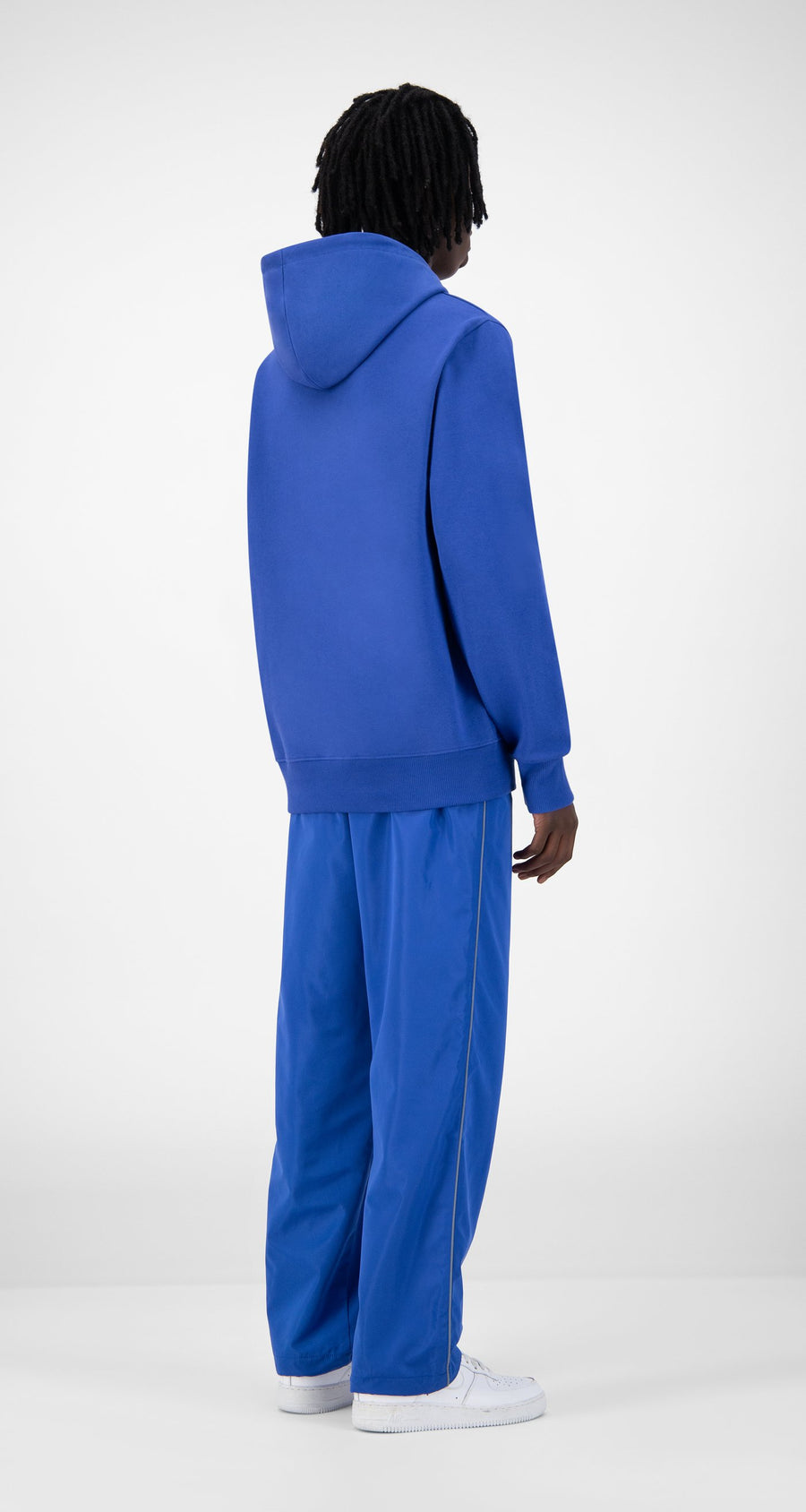 Daily Paper - Blue Eshield Hoody - Men Rear