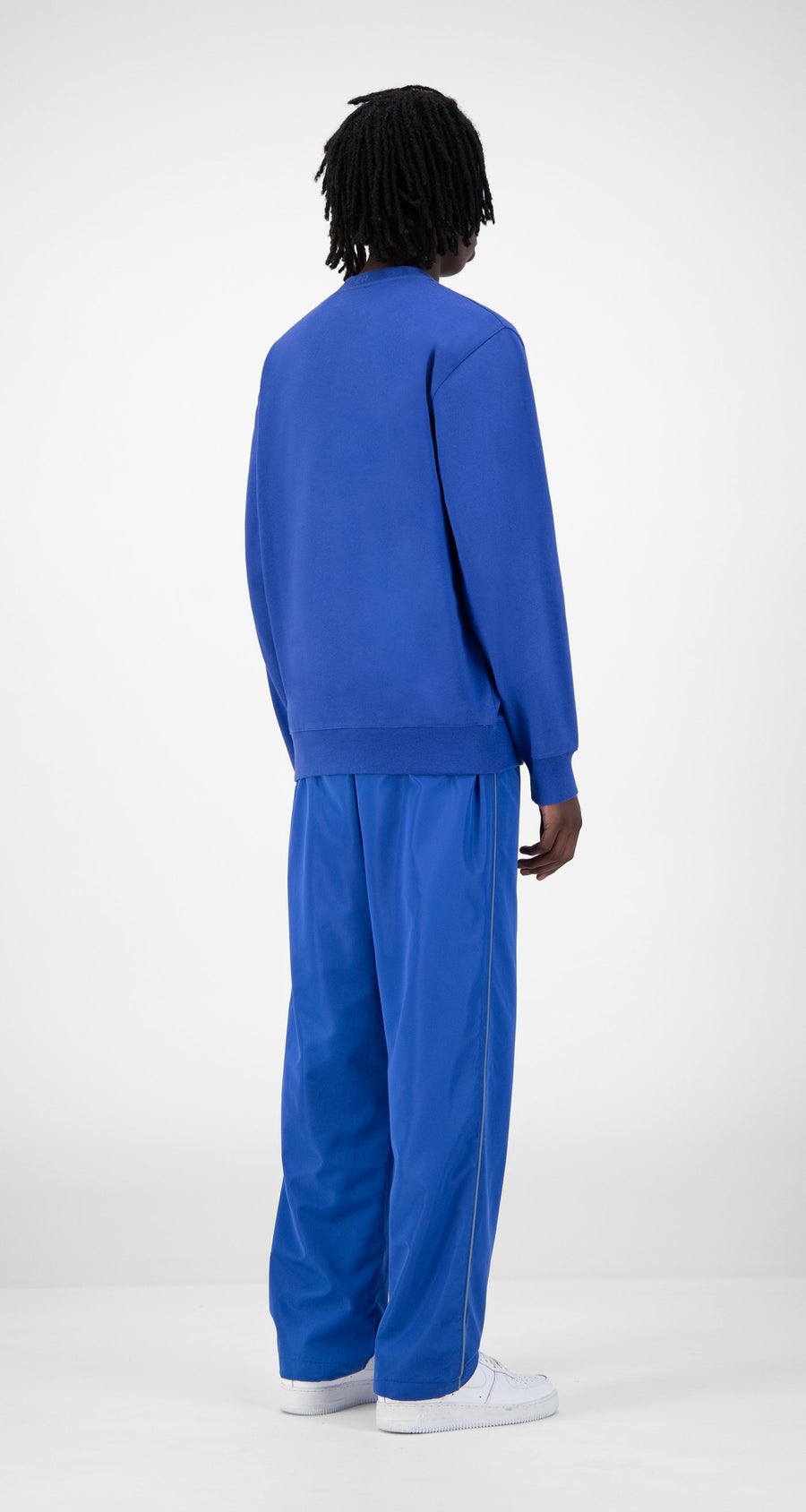 Daily Paper - Blue Derib Sweater - Men Rear
