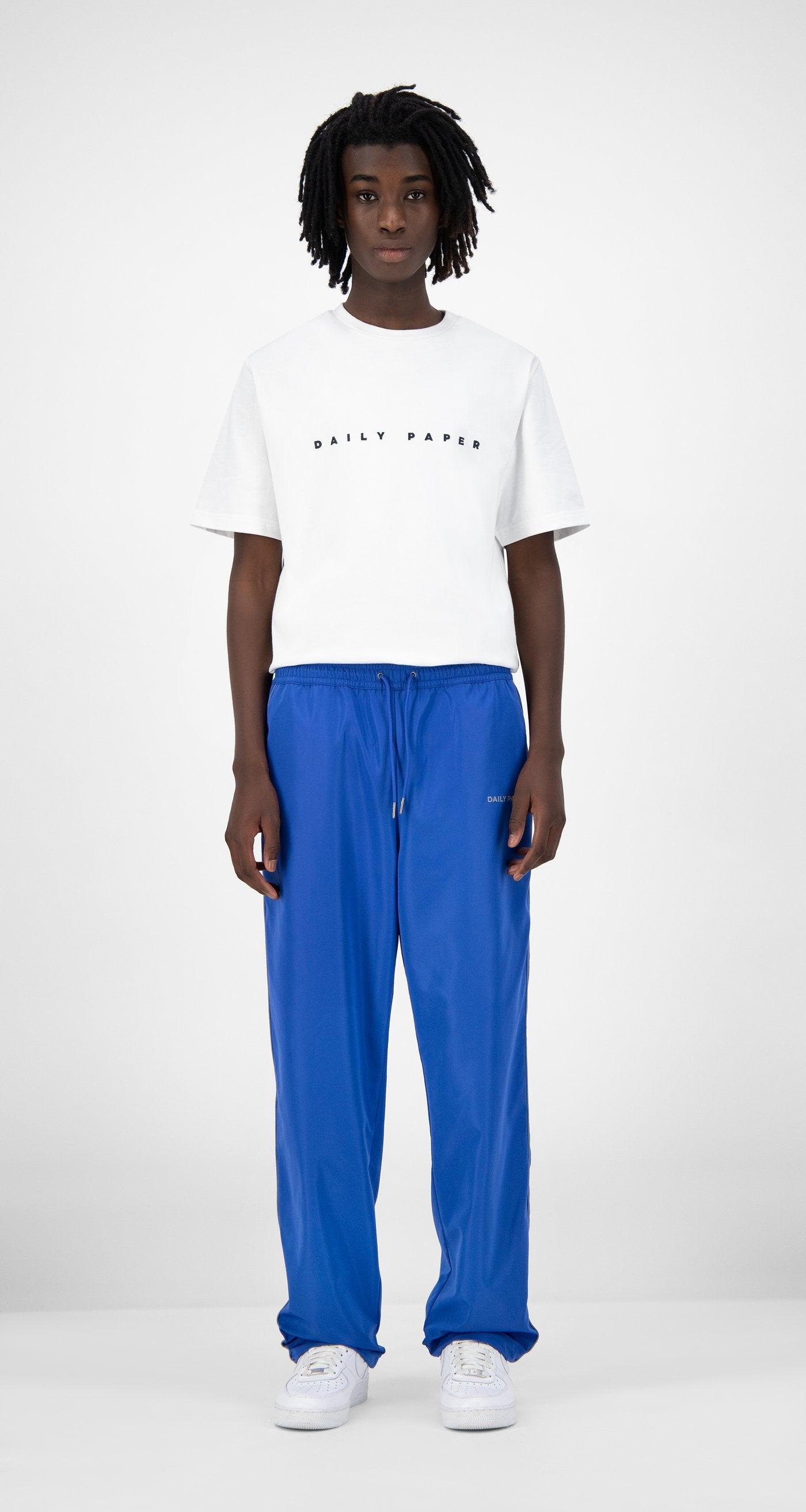 Daily Paper - Blue Etrack Pants - Men Front
