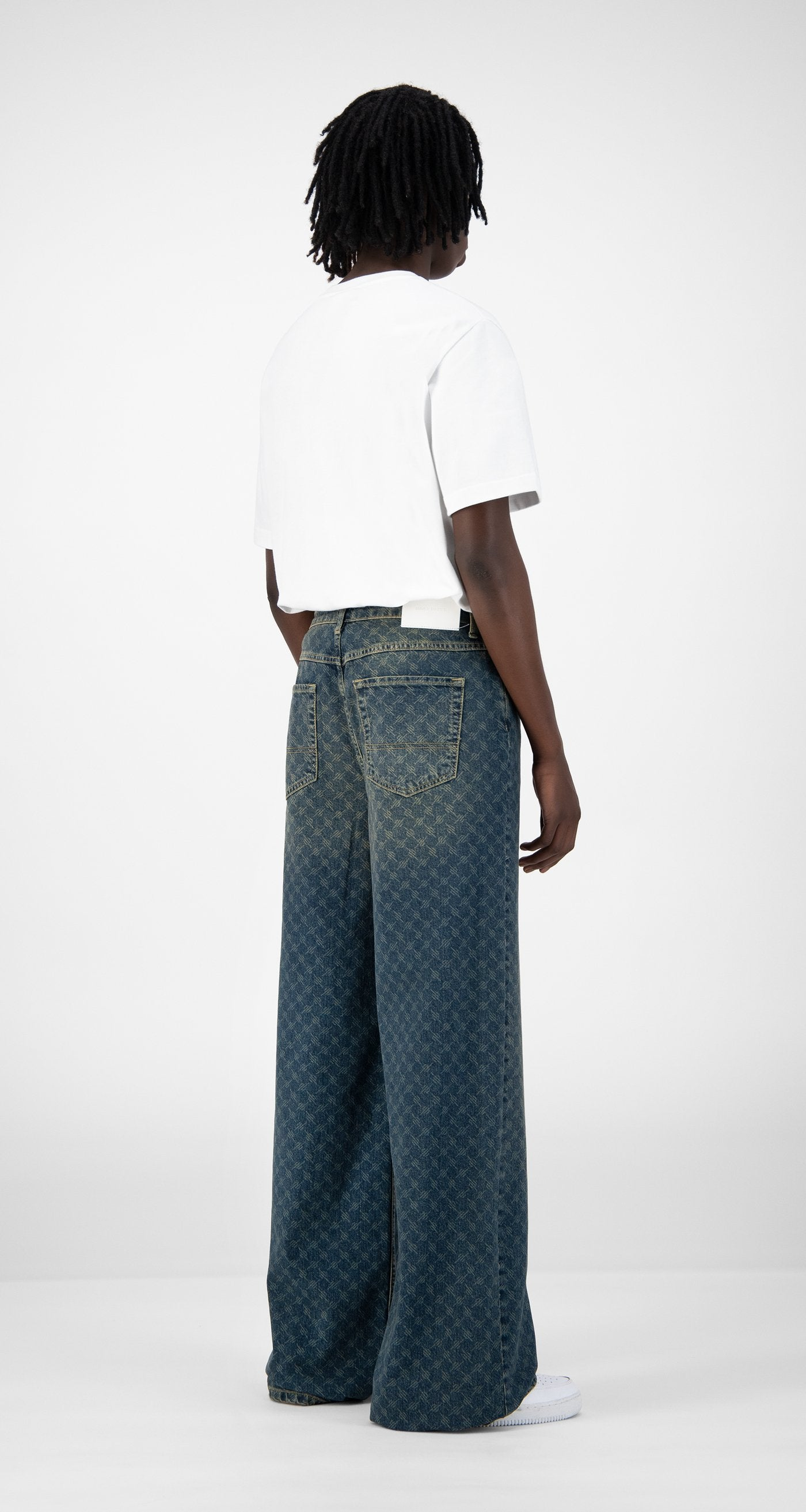Daily Paper - Vintage Blue Kikir Pants - Men Rear