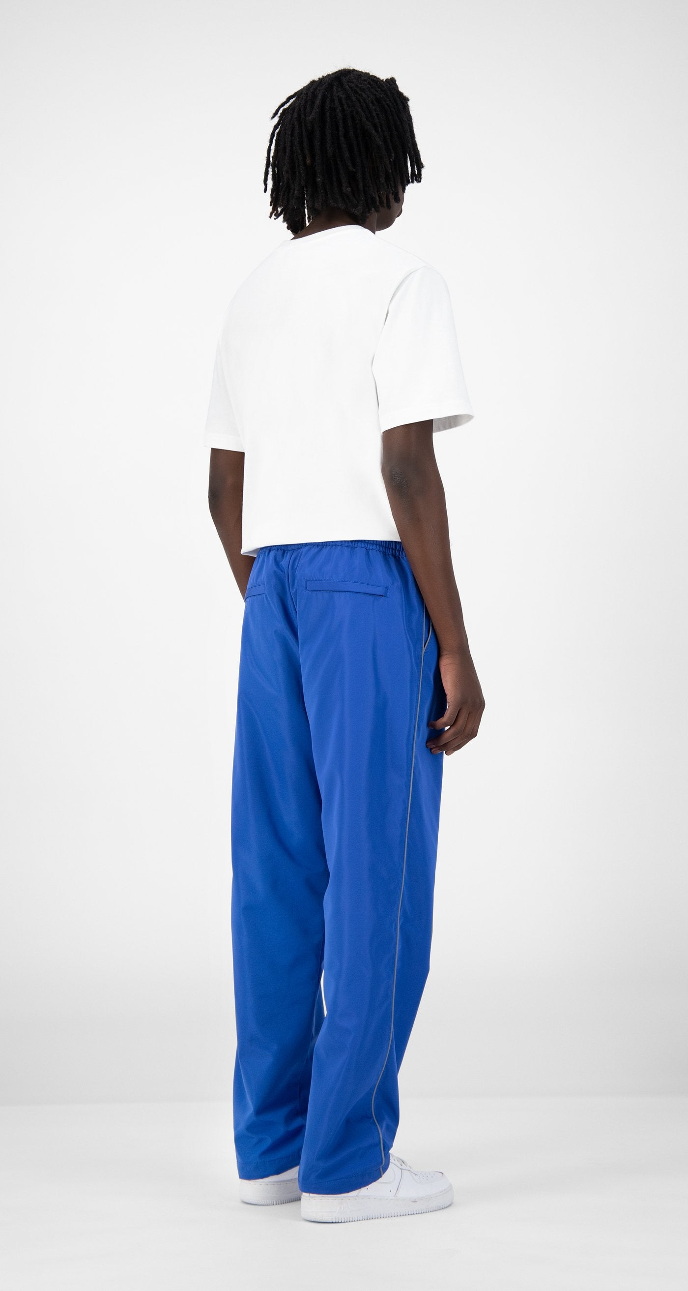 Daily Paper - Blue Etrack Pants - Men Rear