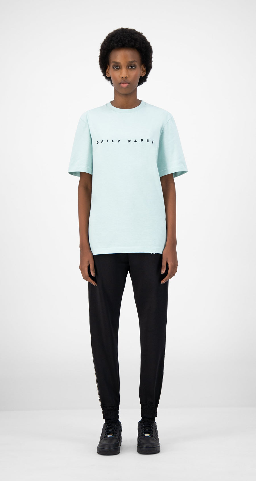 Daily Paper - Pastel Turquoise Elias T-Shirt - Women Front