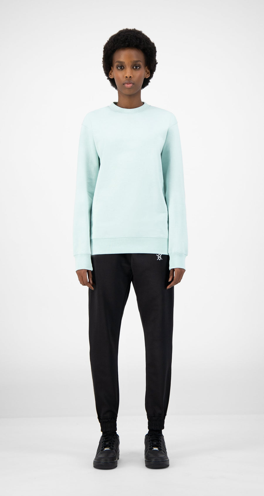 Daily Paper - Pastel Turquoise Derib Sweater - Women Front