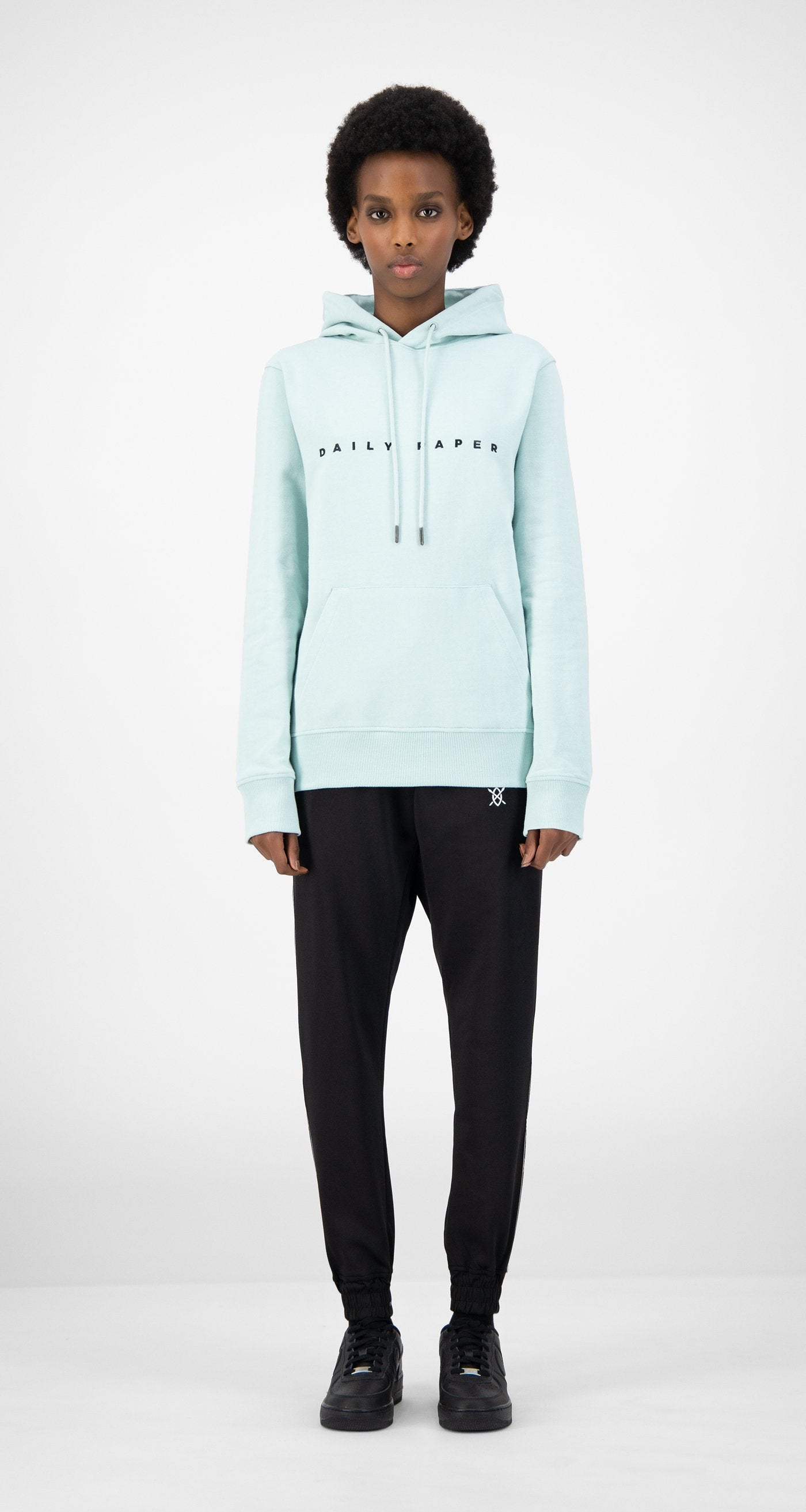 Daily Paper - Pastel Turquoise Elias Hoody - Women Front
