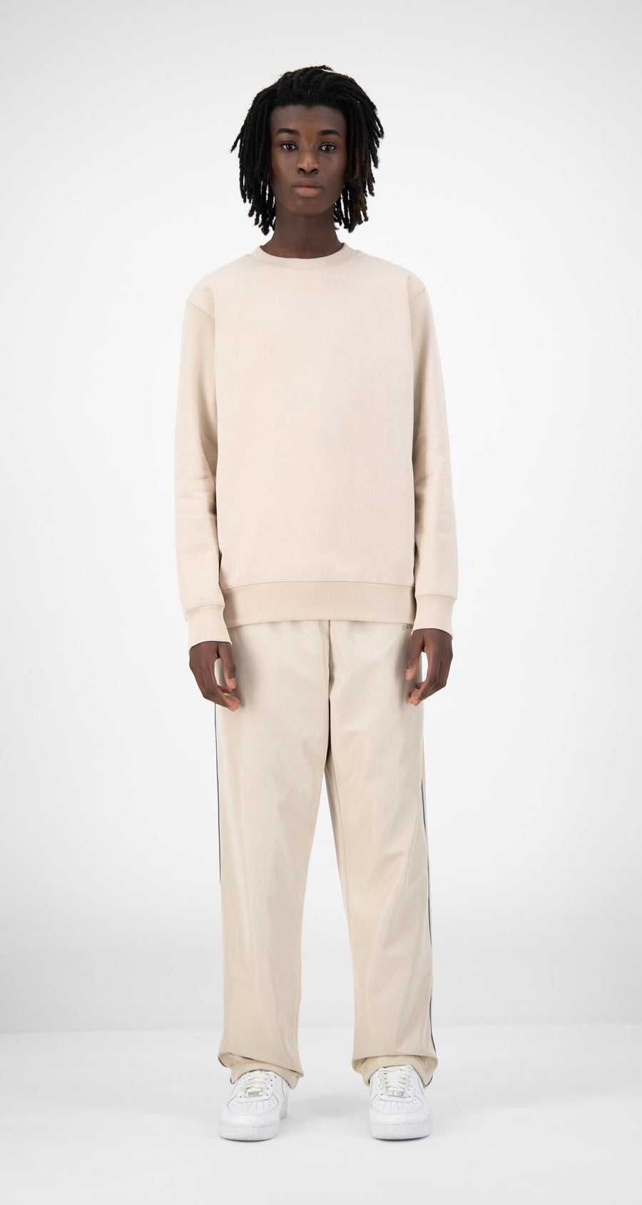 Daily Paper - Beige Derib Sweater - Men Front