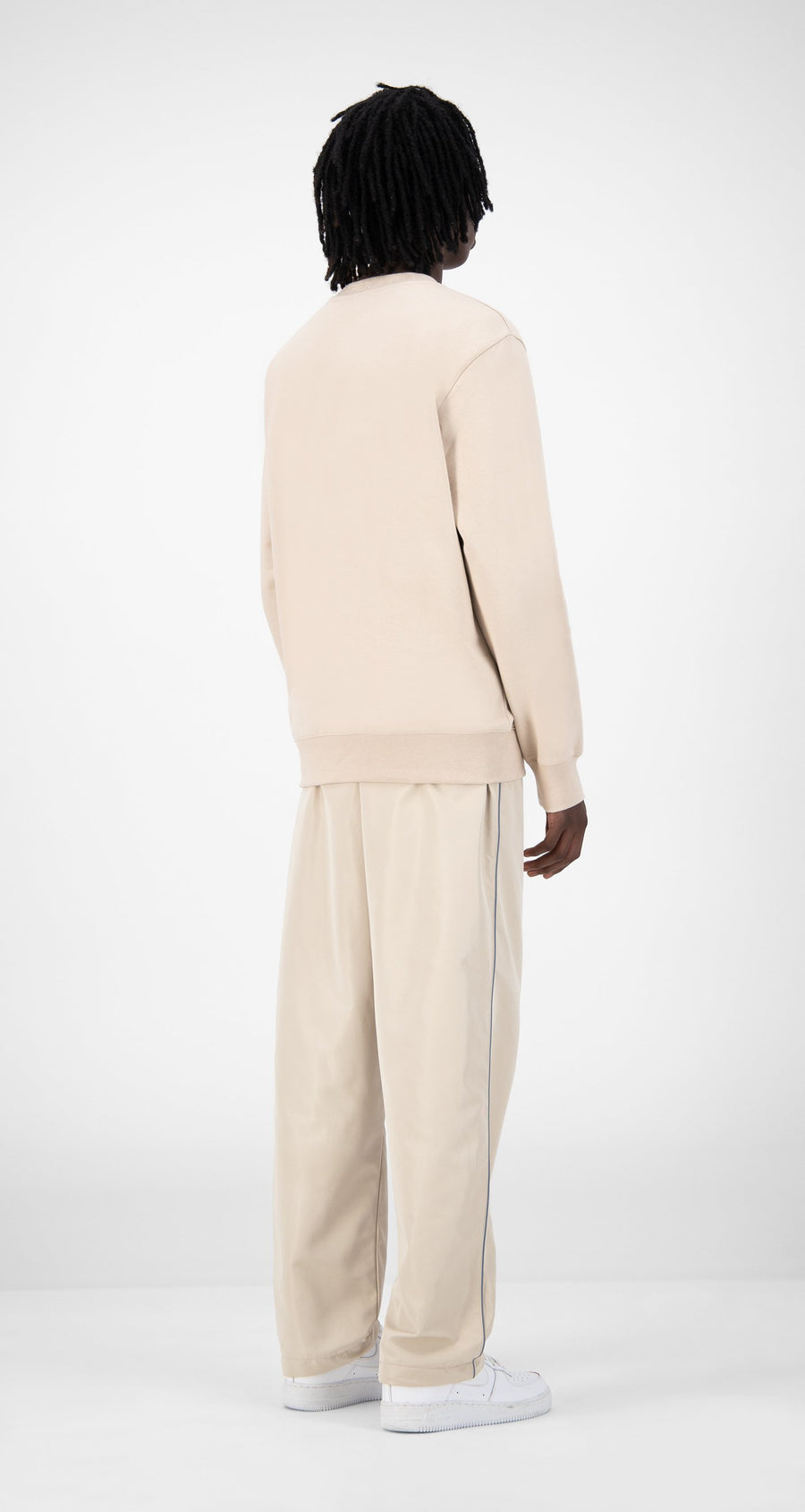 Daily Paper - Beige Derib Sweater - Men Rear