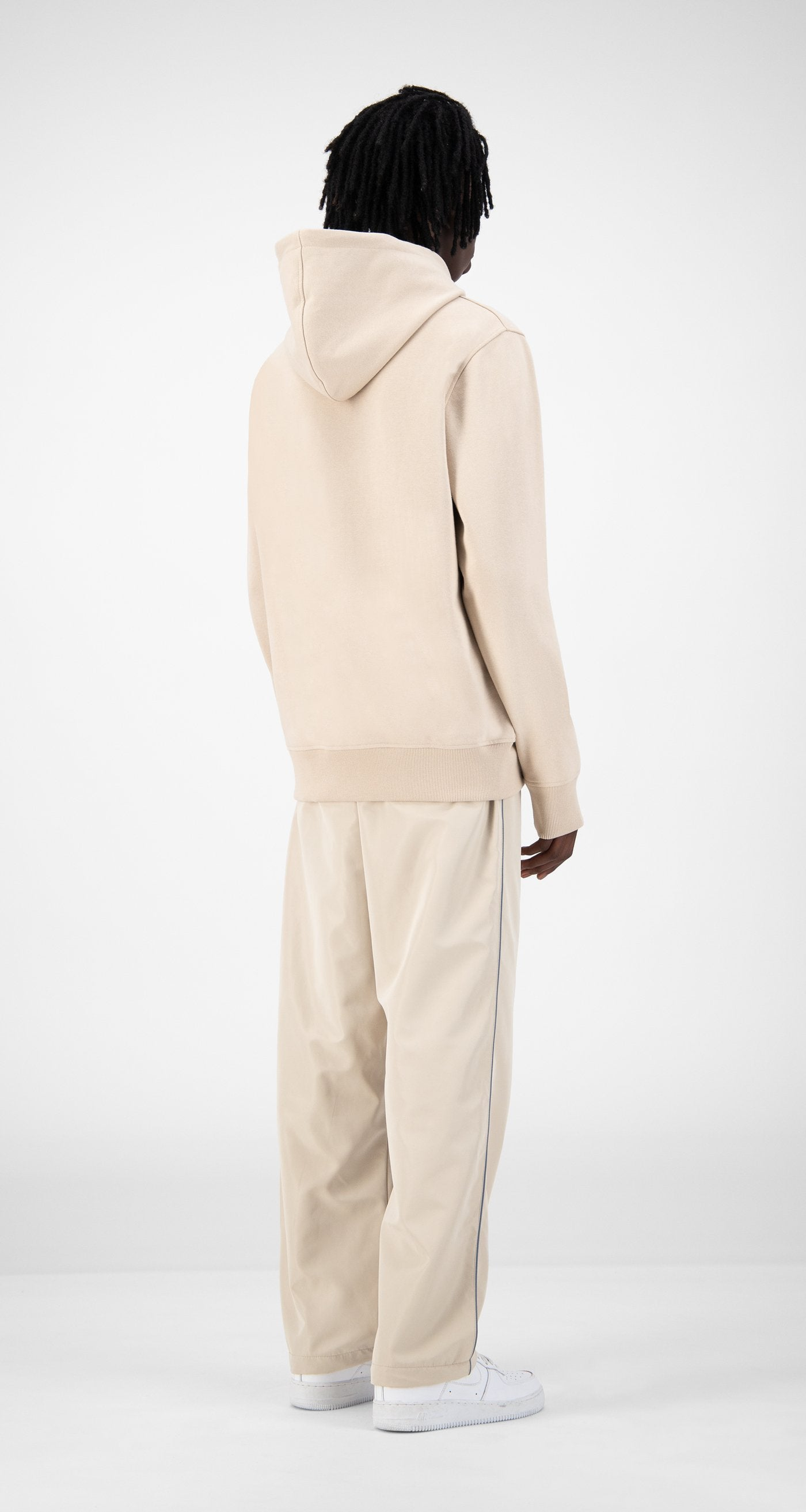 Daily Paper - Beige Elias Hoody - Men Rear