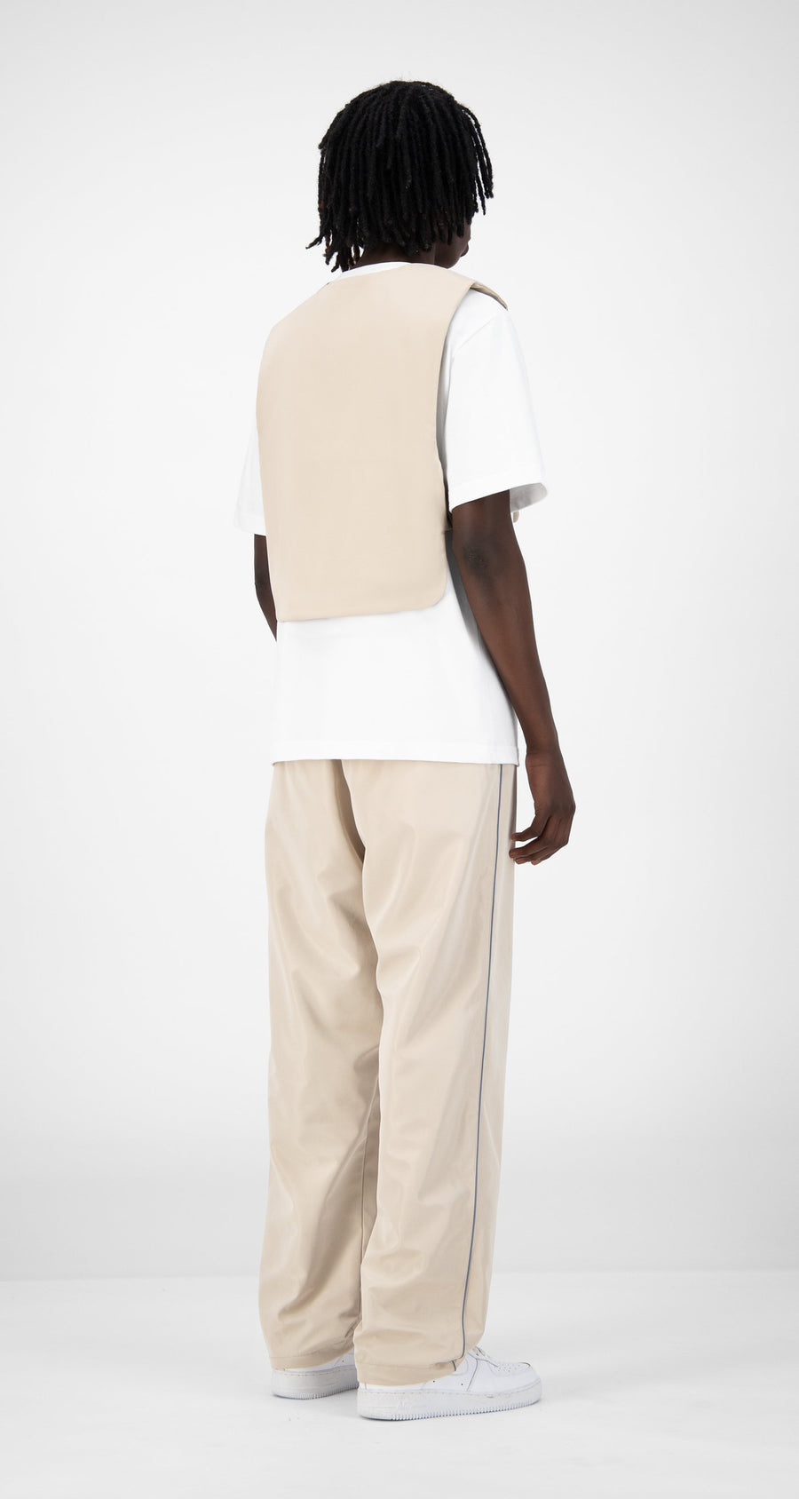 Daily Paper - Beige Edone Vest - Men Rear