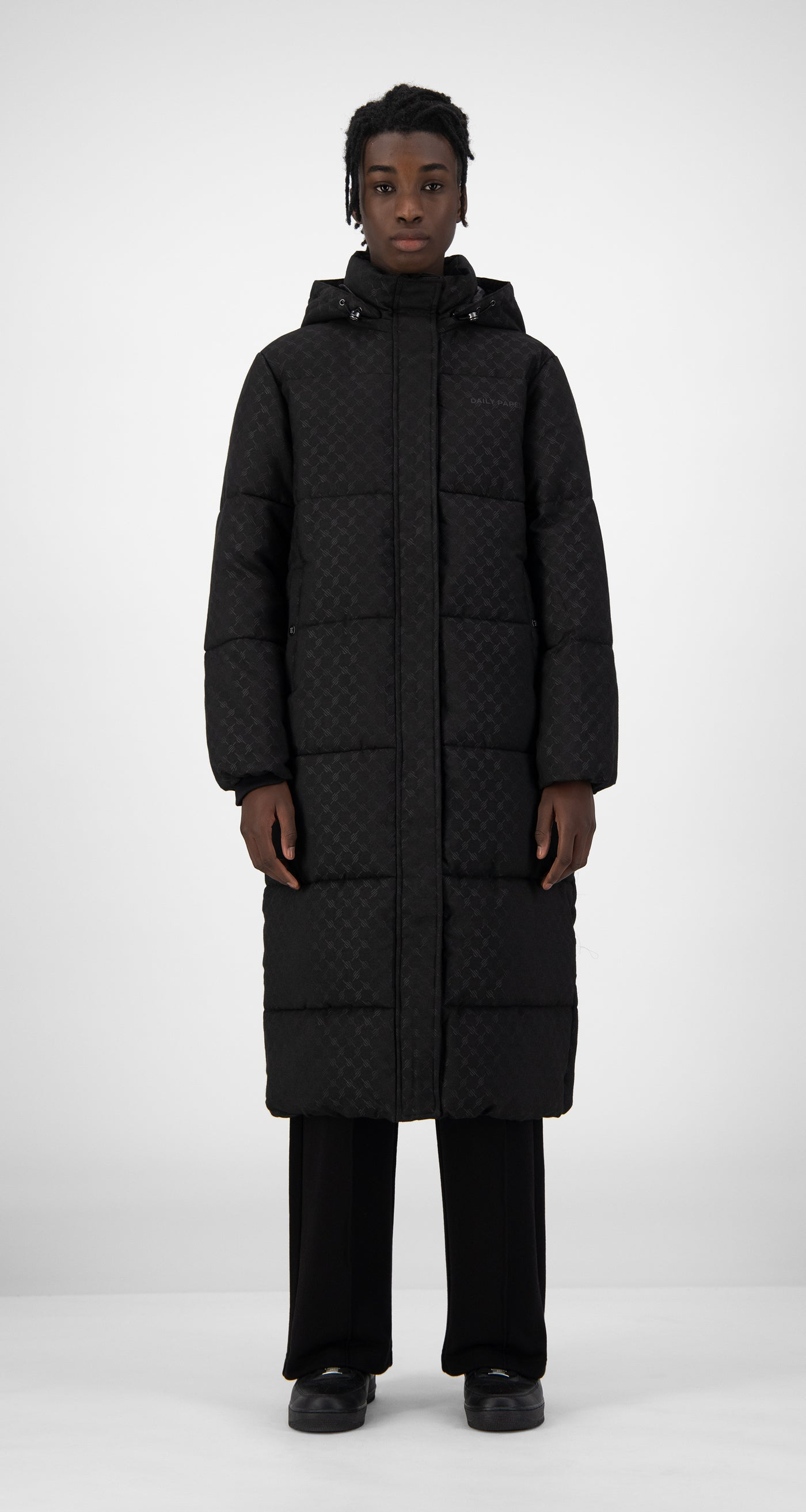 Daily Paper - Black Hopuff Long Jacket - Men Front
