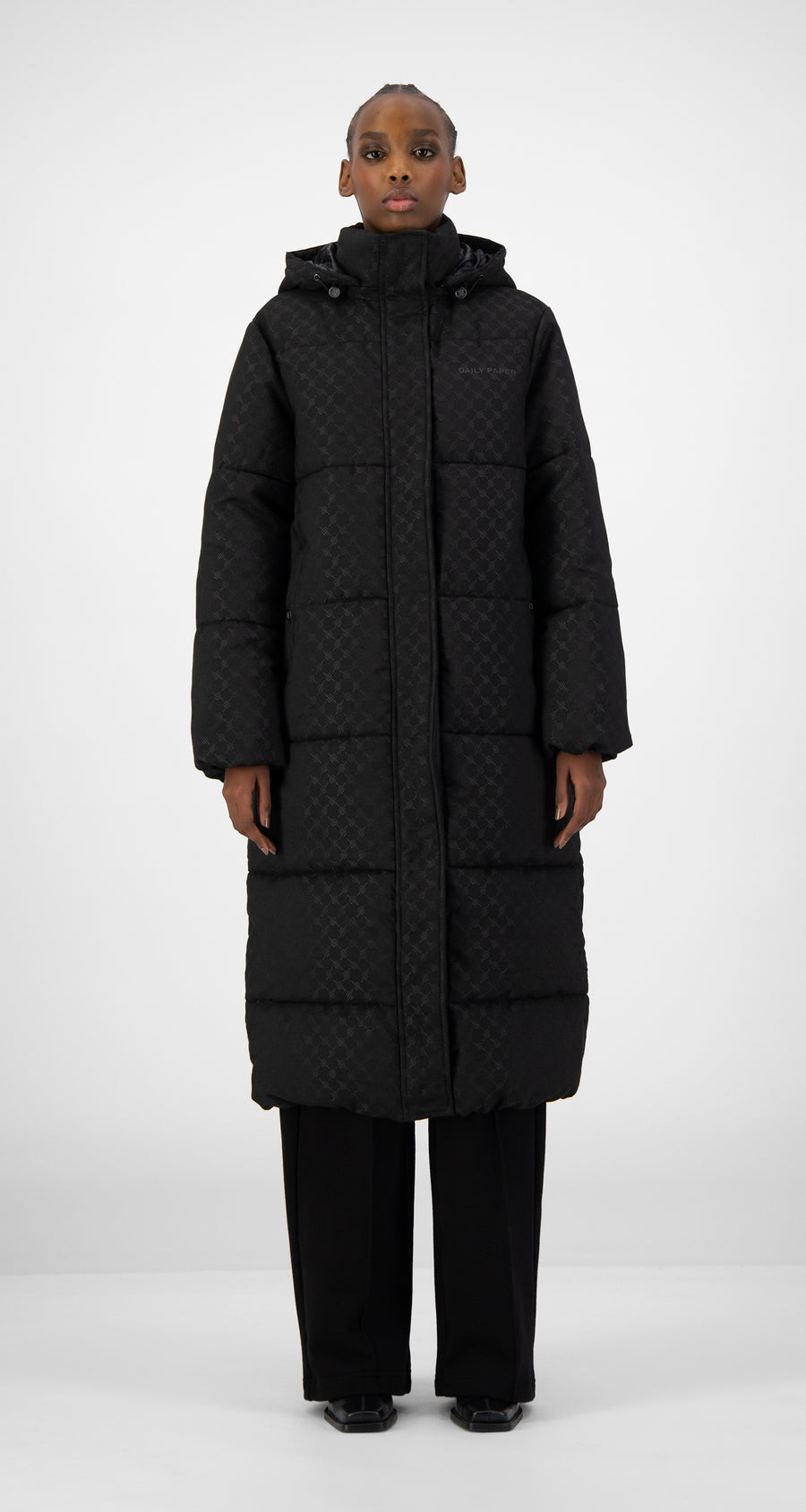 Daily Paper - Black Hopuff Long Jacket - Women Front