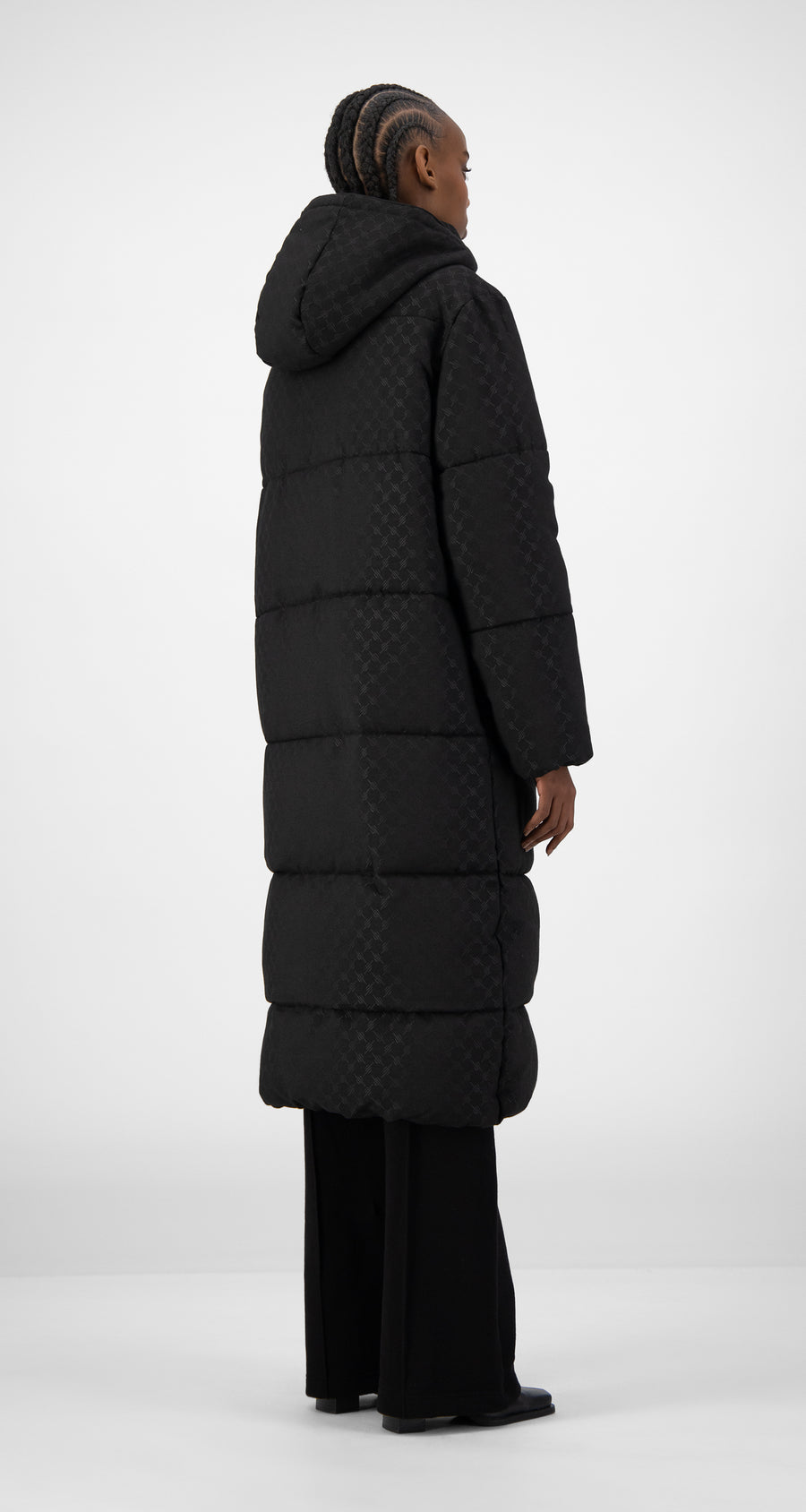 Daily Paper - Black Hopuff Long Jacket - Women Rear