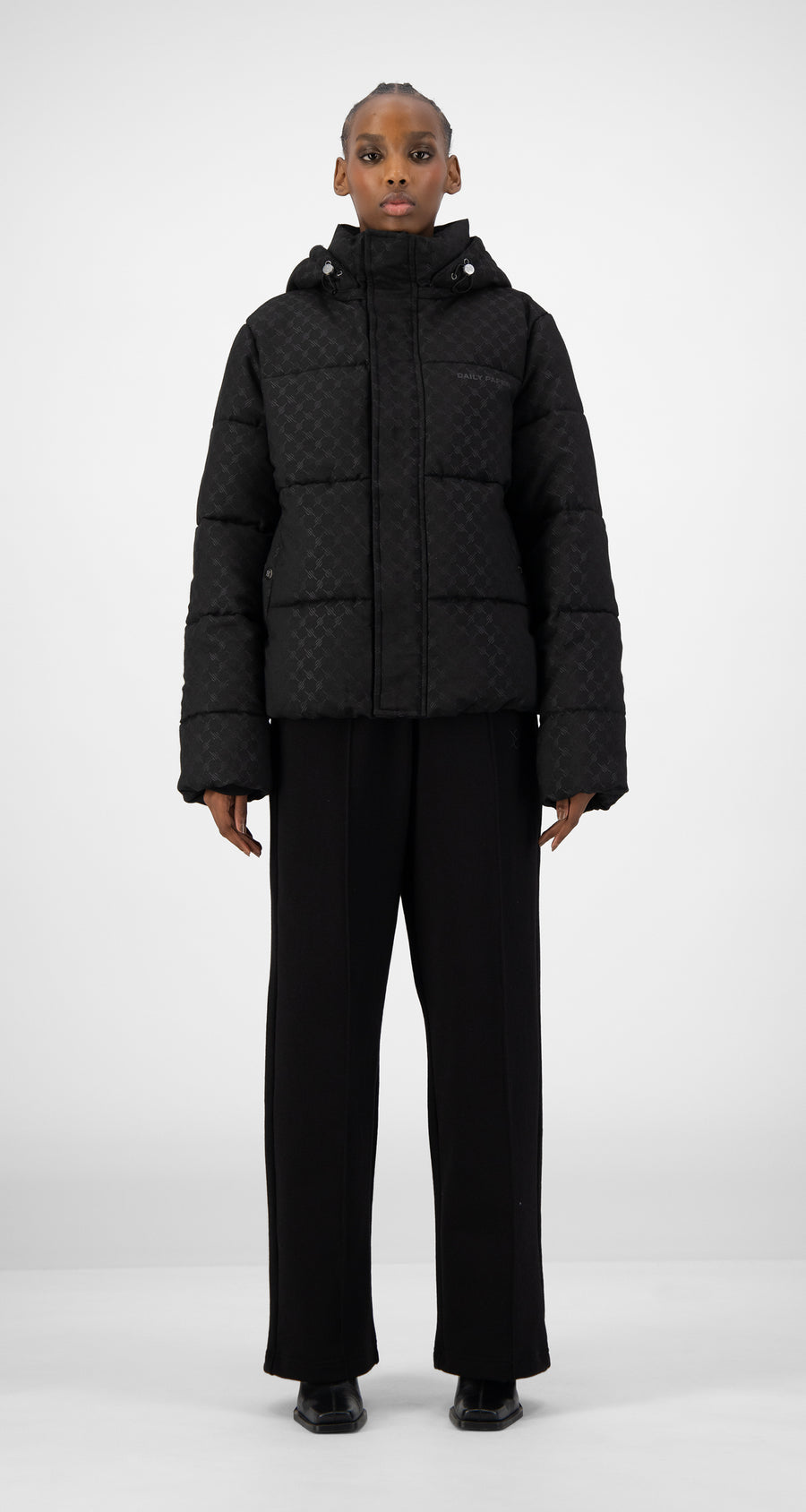 Daily Paper - Black Hopuff Jacket - Women Front