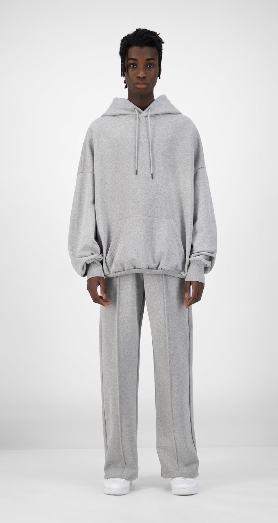 Daily Paper - Grey Ecar Hoody - Men Front