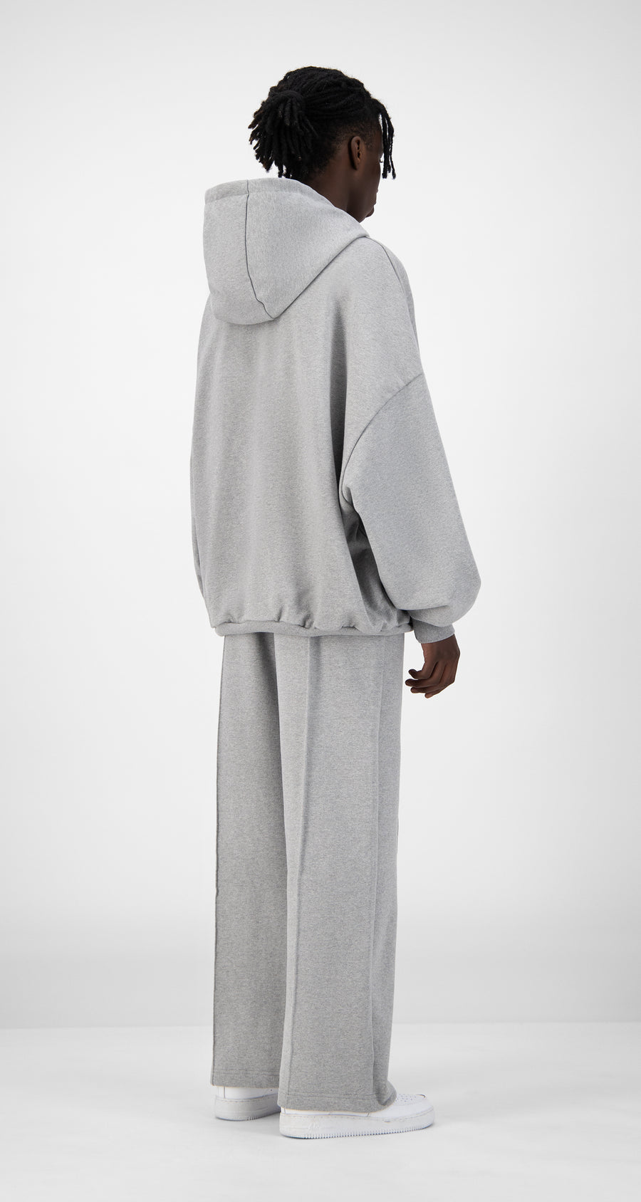 Daily Paper - Grey Ecar Hoody - Men Rear