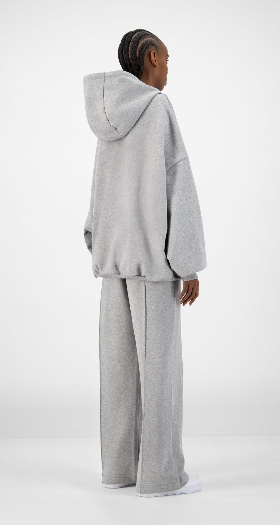 Daily Paper - Grey Ecar Hoody - Women Rear