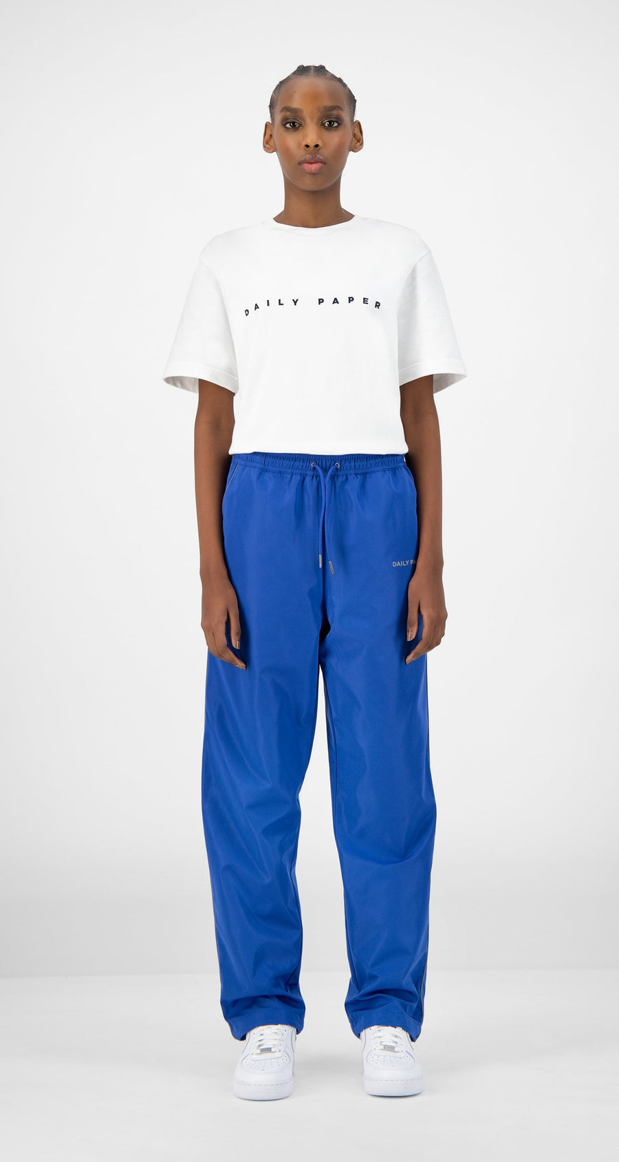 Daily Paper - Blue Etrack Pants - Women Front