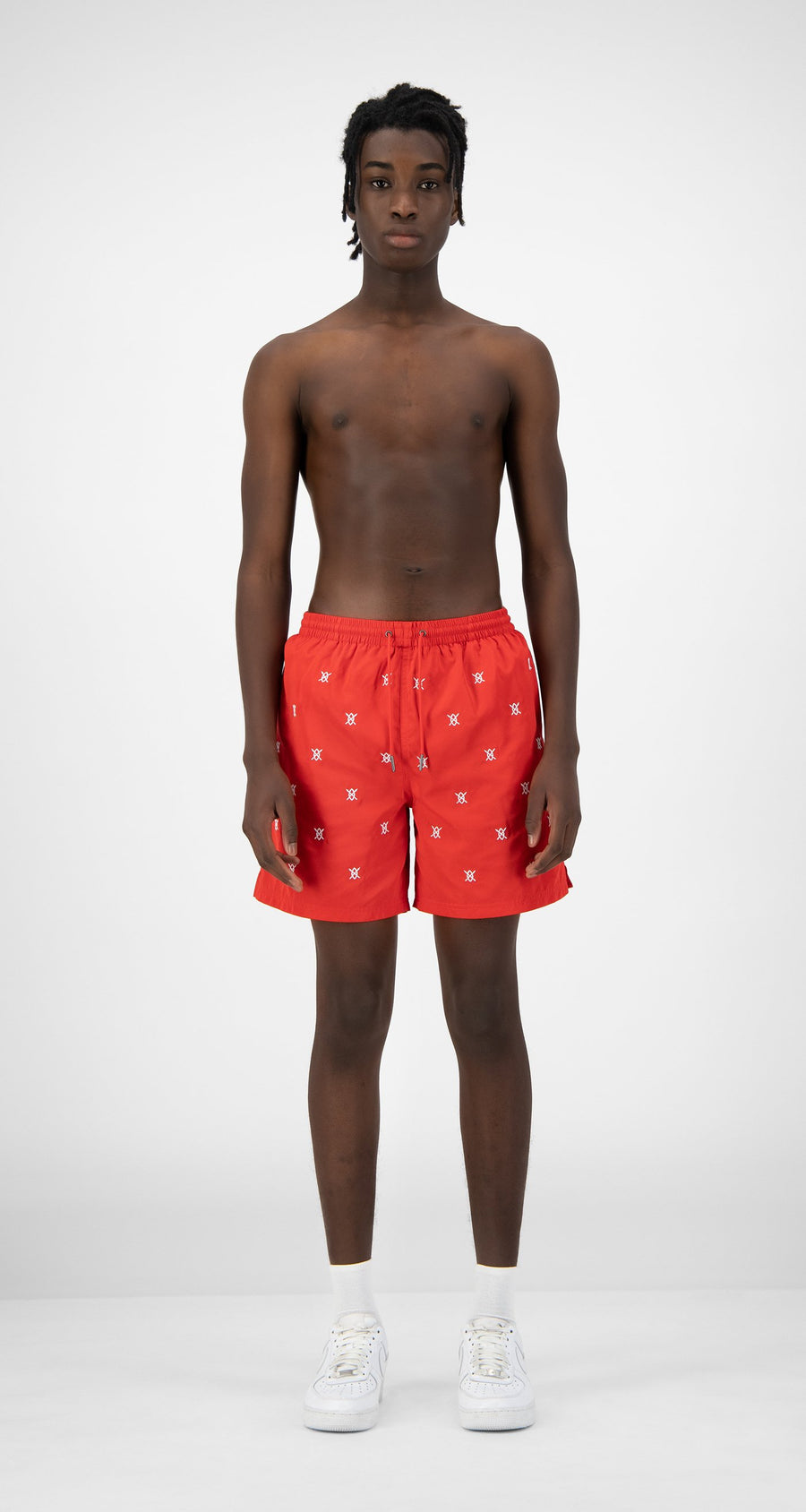 Daily Paper - Red Eswim Shorts - Men Rear