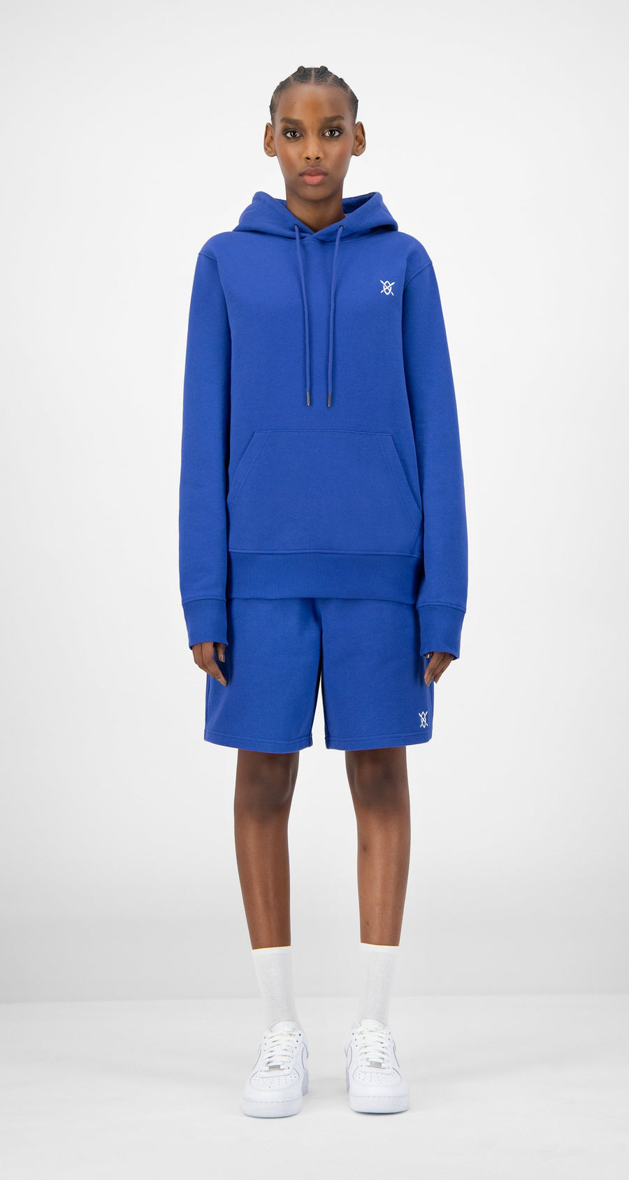 Daily Paper - Blue Eshield Hoody - Women Front