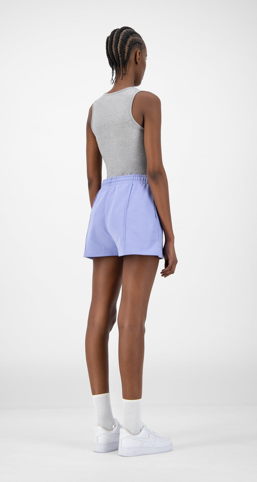 Daily Paper - Purple Ehot Shorts - Women Rear