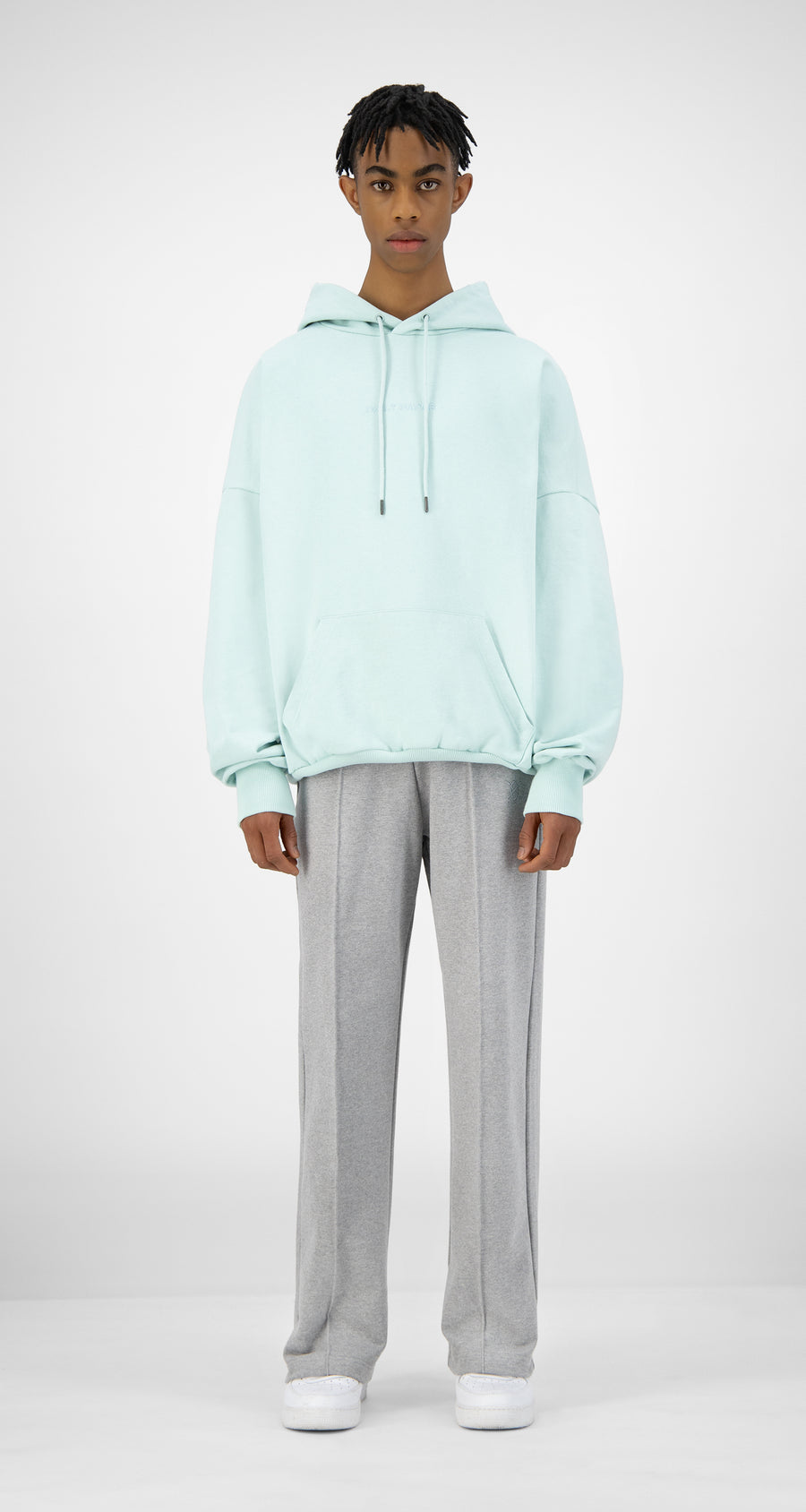 Daily Paper - Pastel Turquoise Ecar Hoody - Men Front