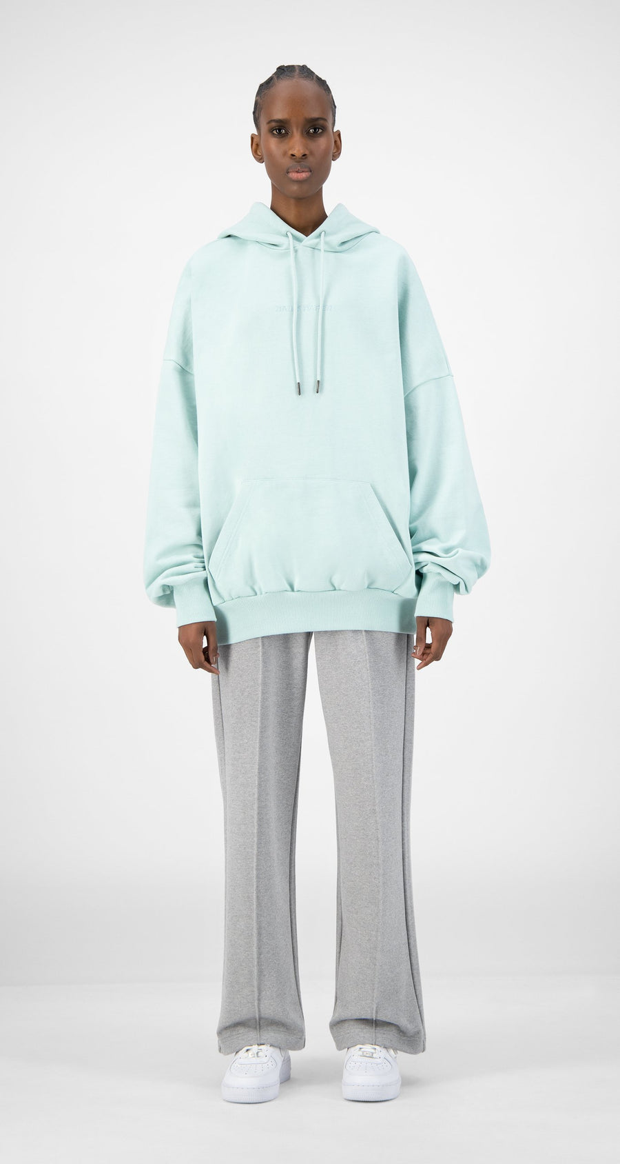 Daily Paper - Pastel Turquoise Ecar Hoody - Women Front