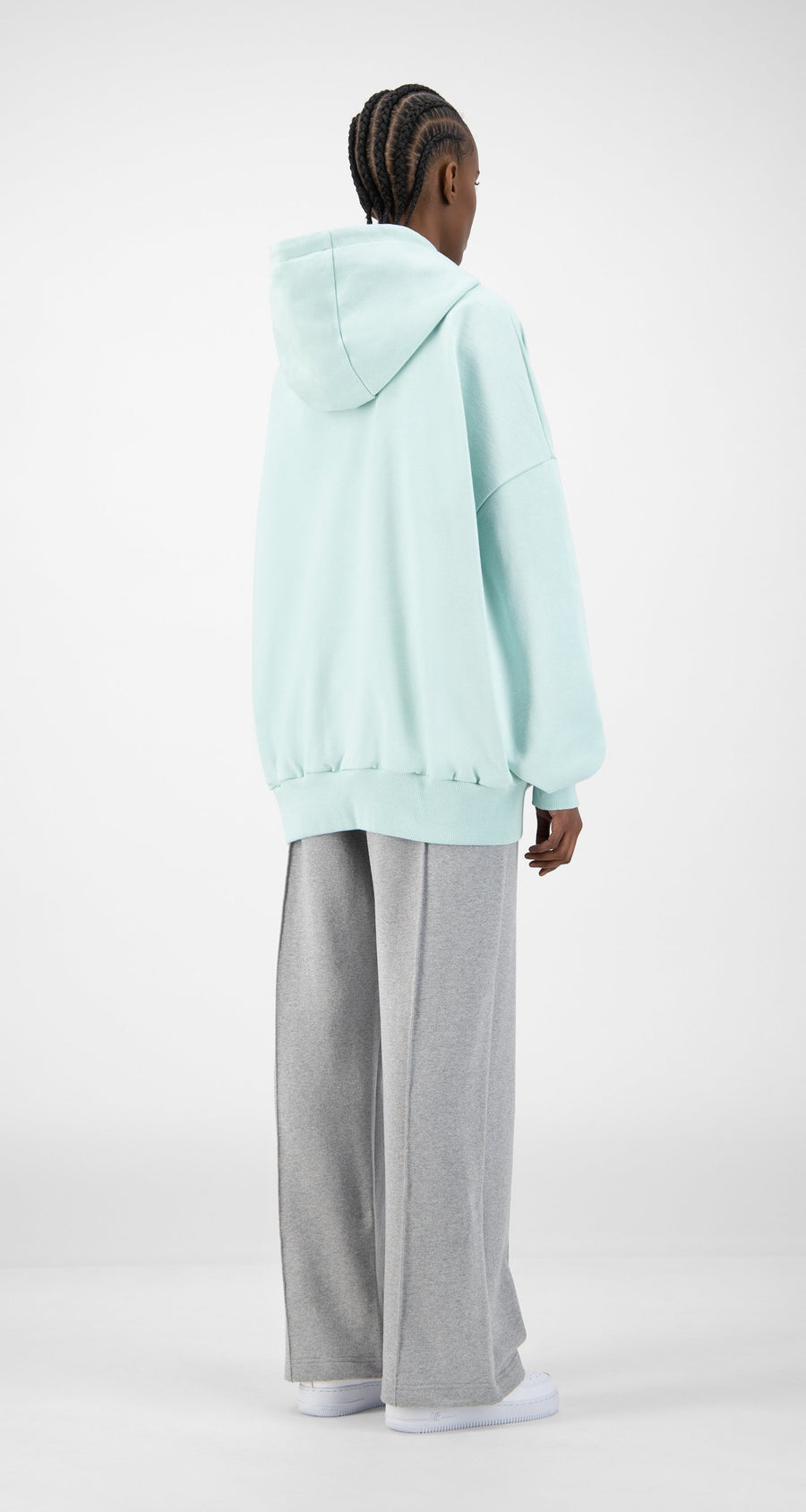 Daily Paper - Pastel Turquoise Ecar Hoody - Women Rear