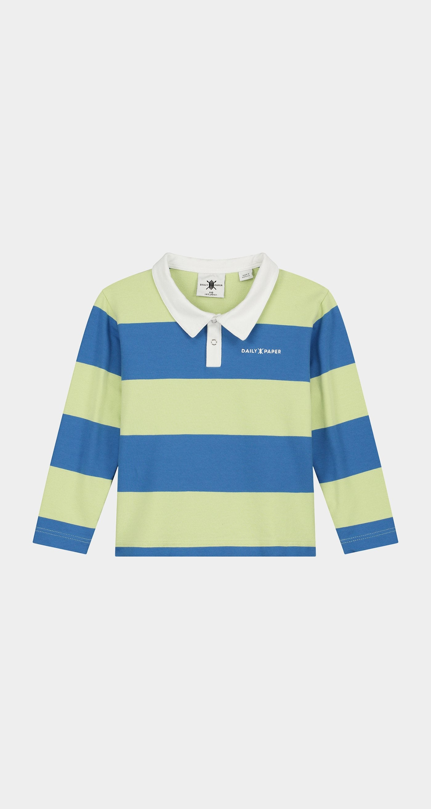 Daily Paper - Patina Green Kids Polo Longsleeve Front