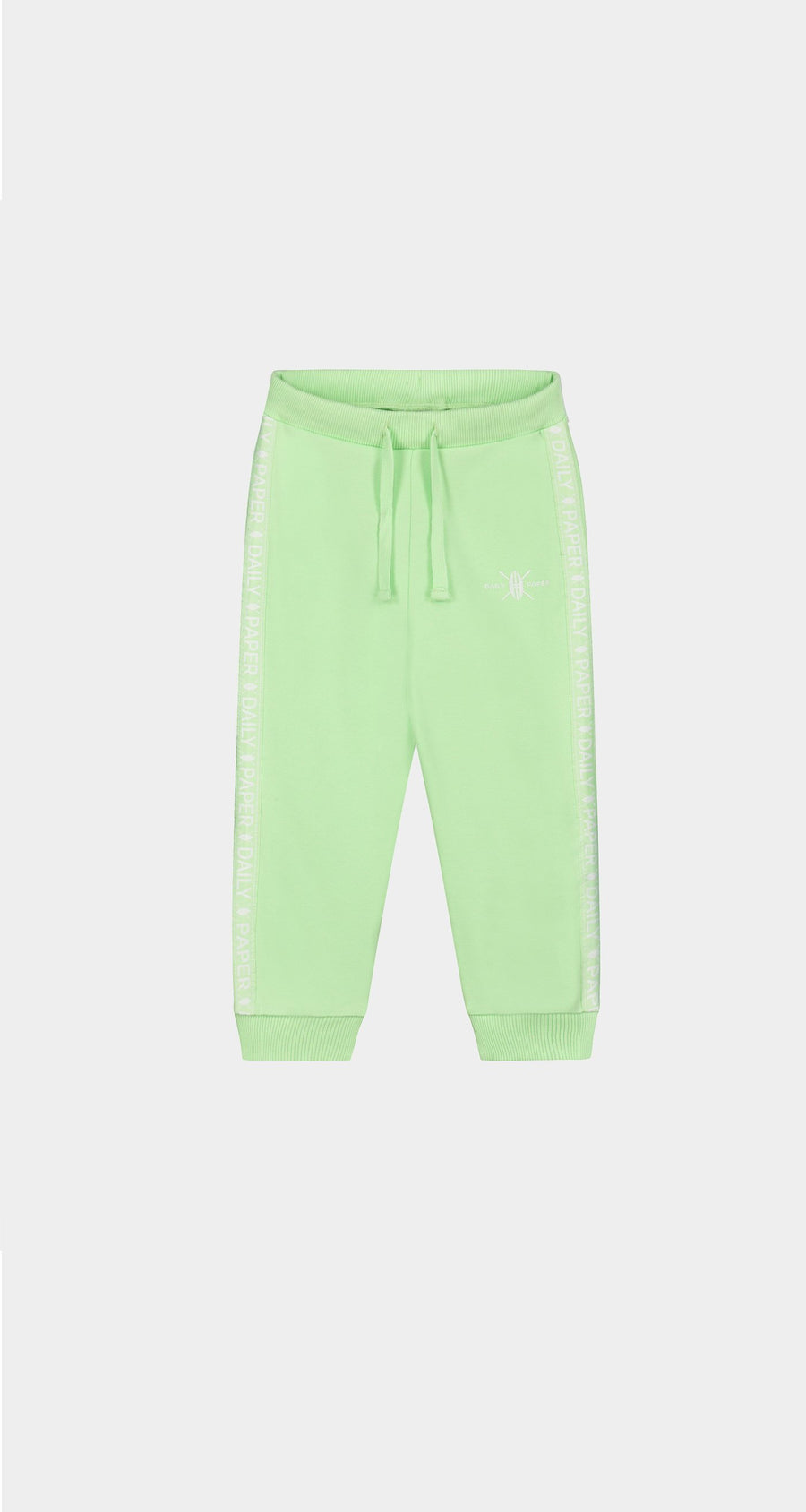 Daily Paper - Patina Green Kids Tape Logo Track Pants Front