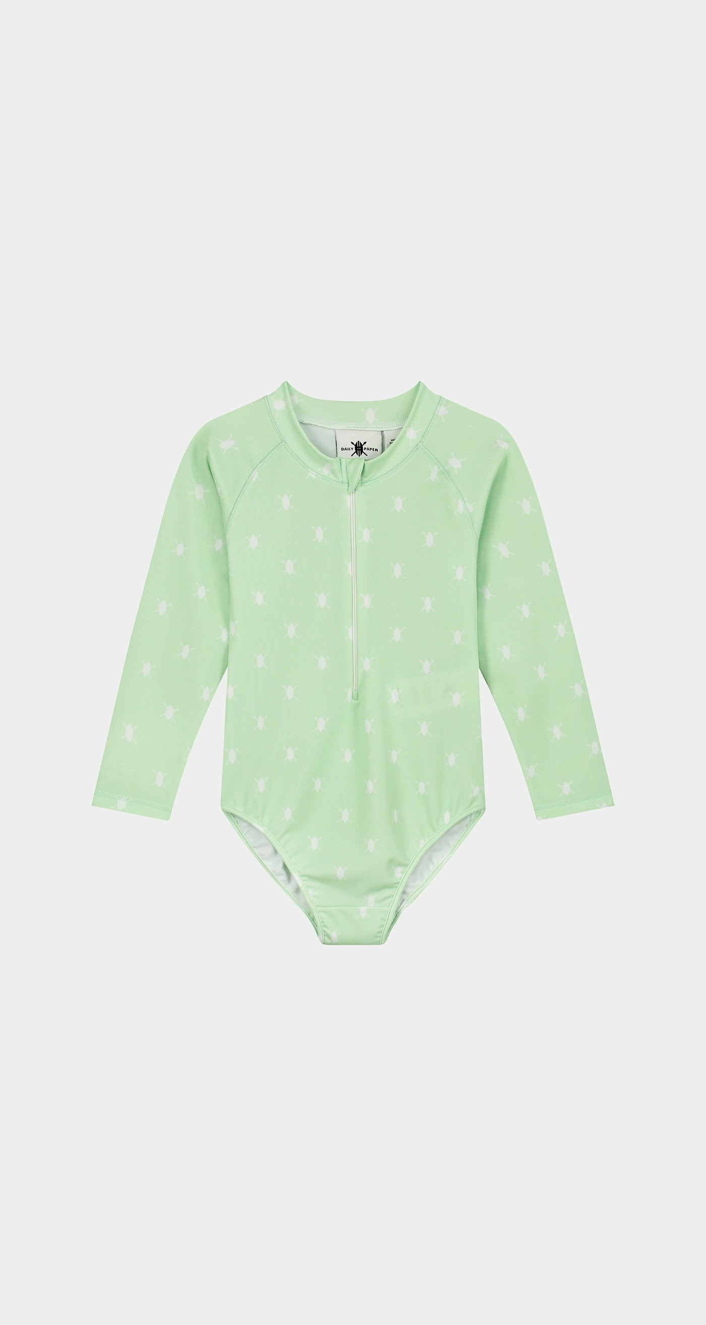 Daily Paper - Patina Green Kids Shield Longsleeve Swimsuit Front