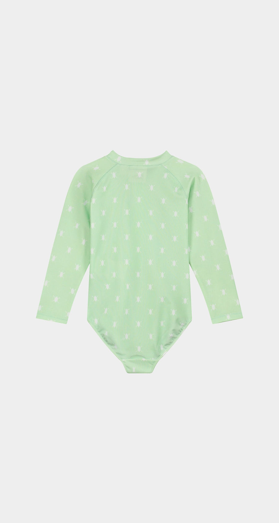 Daily Paper - Patina Green Kids Shield Longsleeve Swimsuit Rear