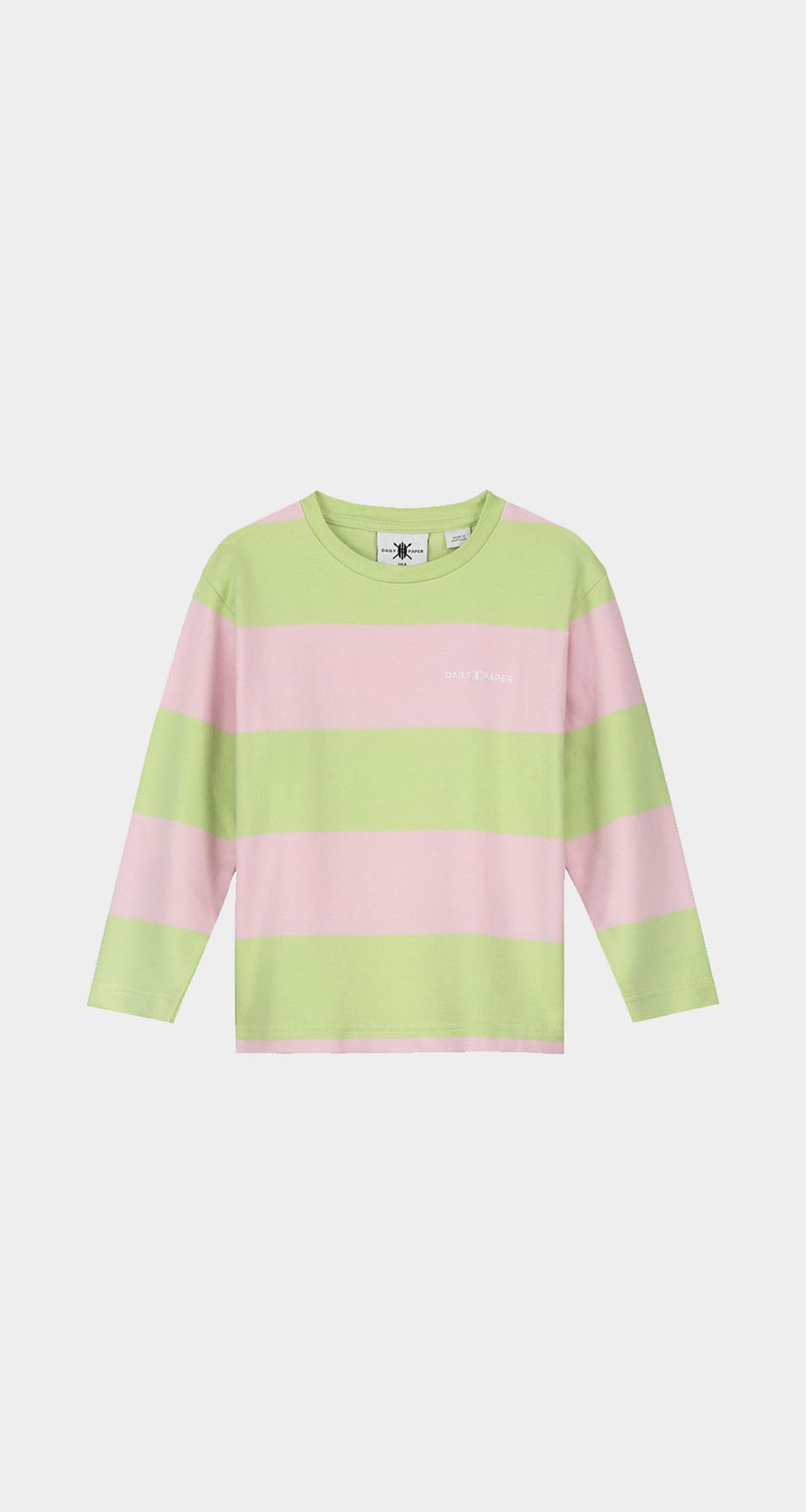 Daily Paper - Patina Green Striped Kids Longsleeve Front