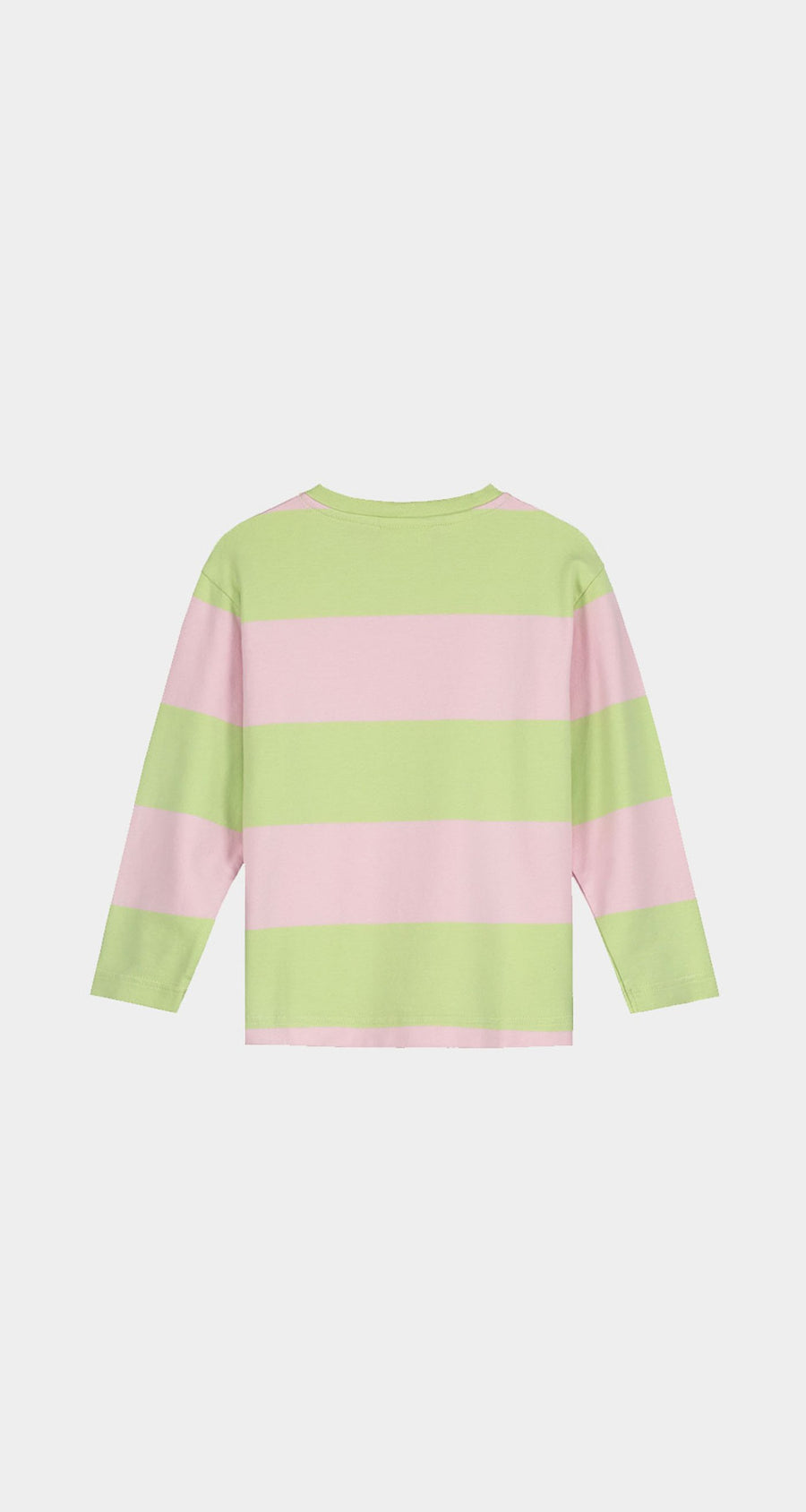 Daily Paper - Patina Green Striped Kids Longsleeve Rear