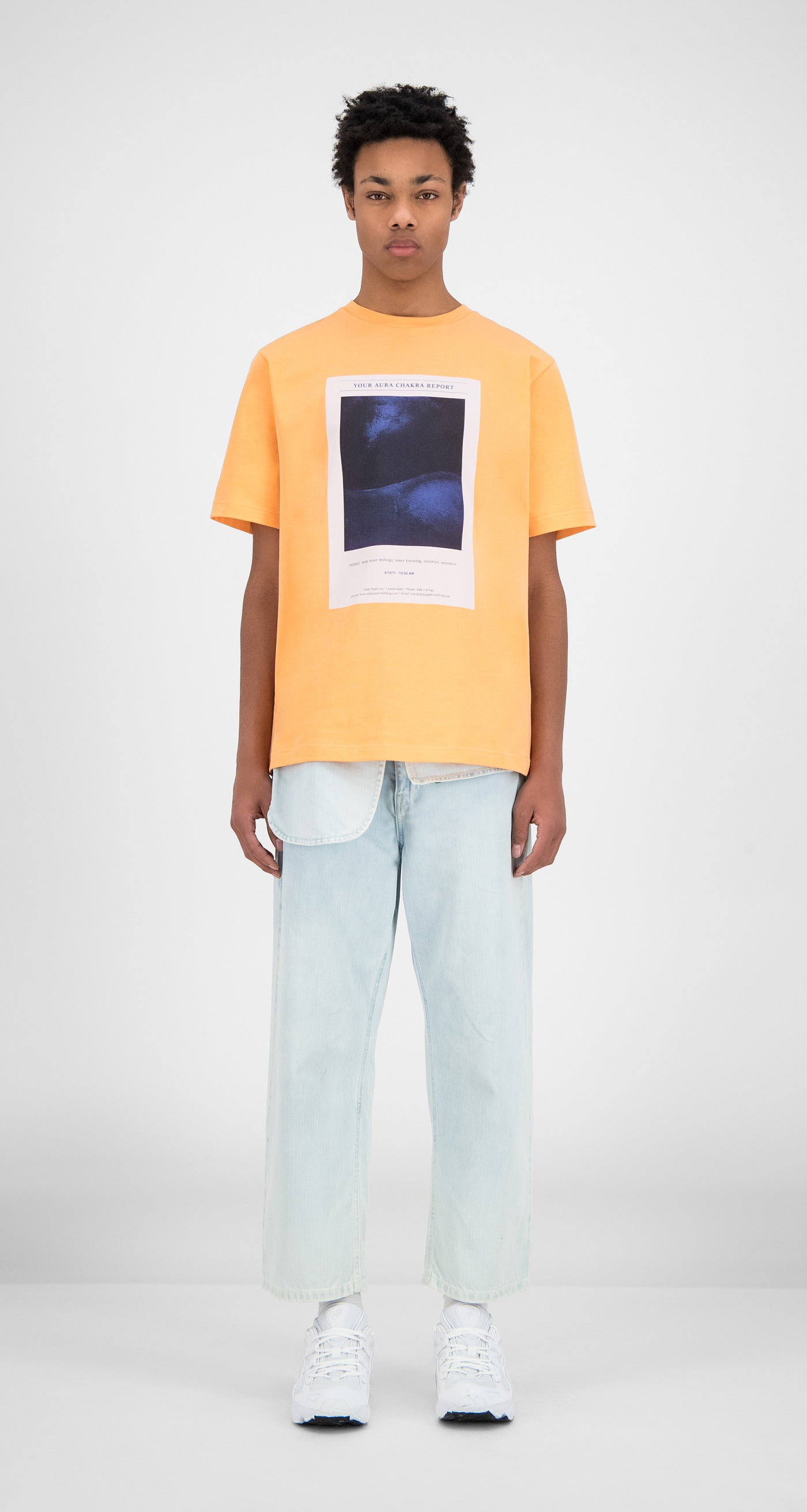 Daily Paper - Peach Hencan T-Shirt - Men Front