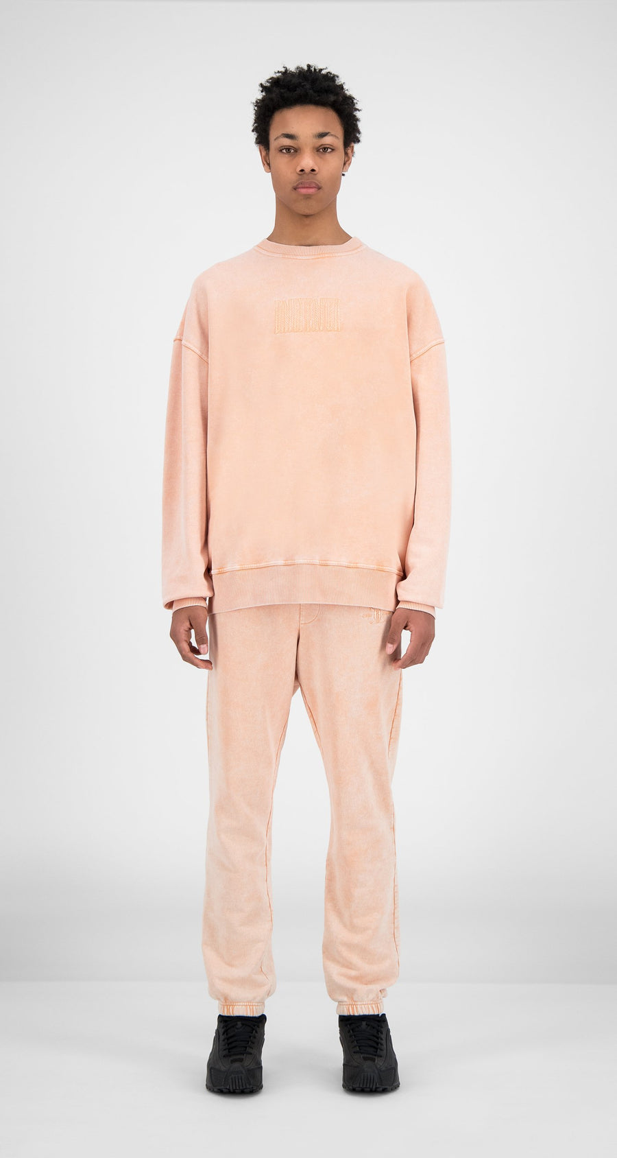 Daily Paper - Washed Peach Heracid Sweater - Men Front