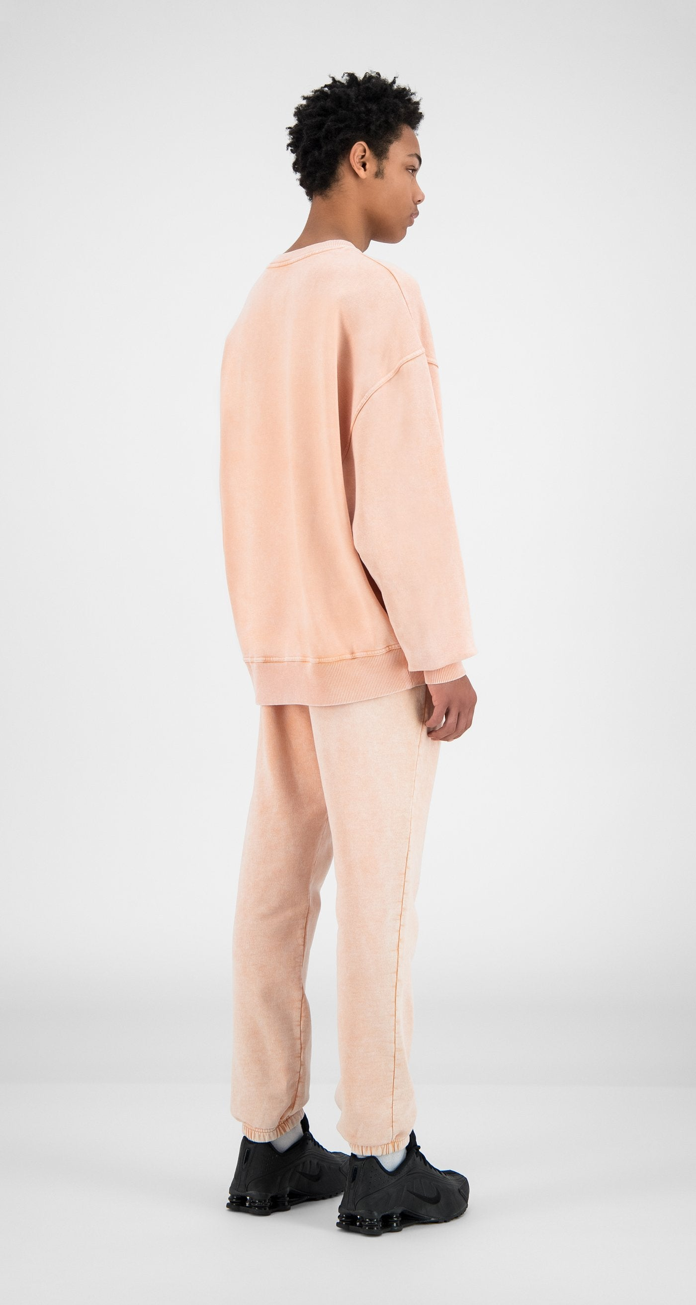 Daily Paper - Washed Peach Heracid Sweater - Men Rear