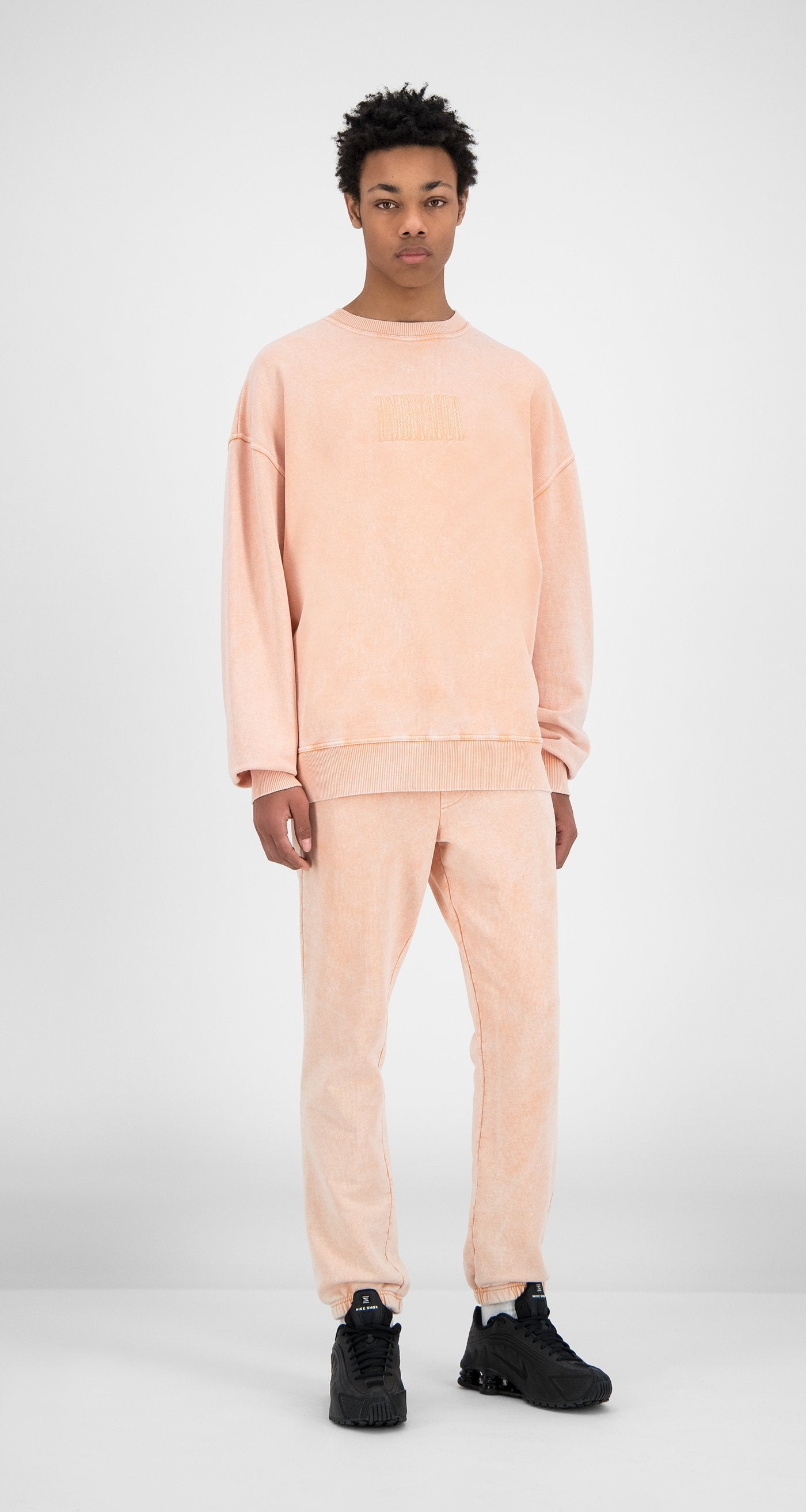 Daily Paper - Washed Peach Heracid Sweater - Men - Front
