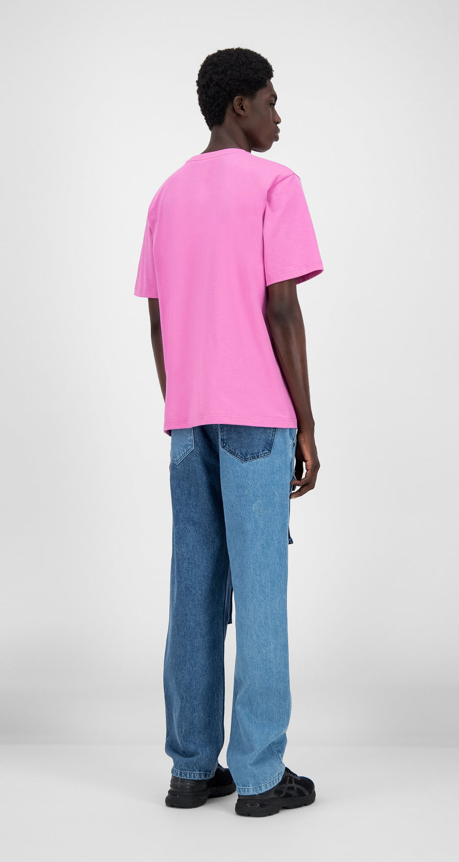 Daily Paper - Fuchsia Pink Henfu T-Shirt - Men Rear