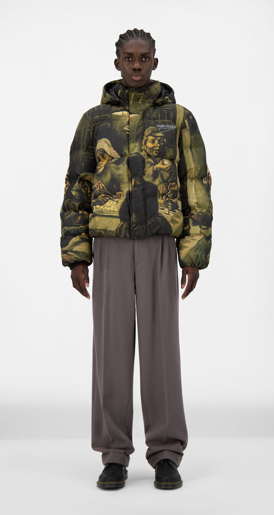 Daily Paper x Van Gogh Museum - Potato Eaters Van Juff Puffer Jacket - Men Front