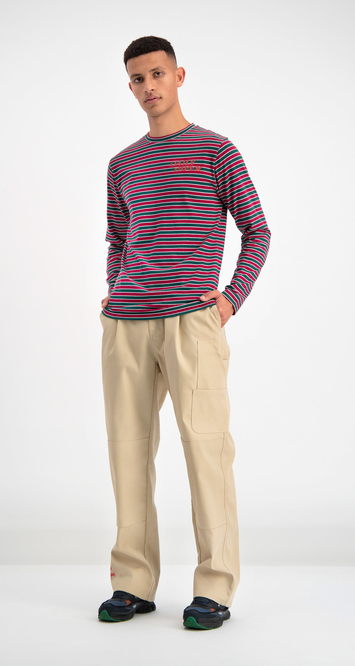 Daily Paper - Green Striped Daso Longsleeve Men