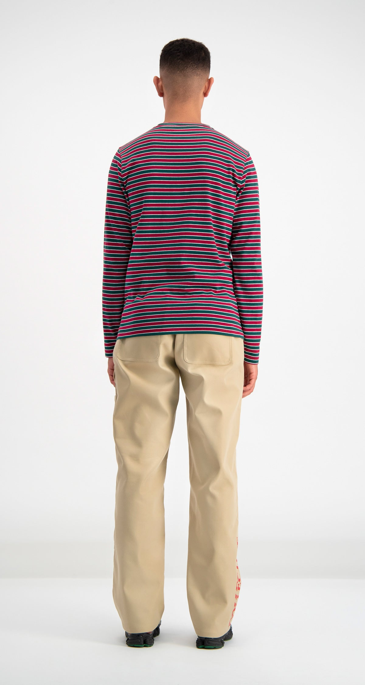 Daily Paper - Green Striped Daso Longsleeve Men Rear