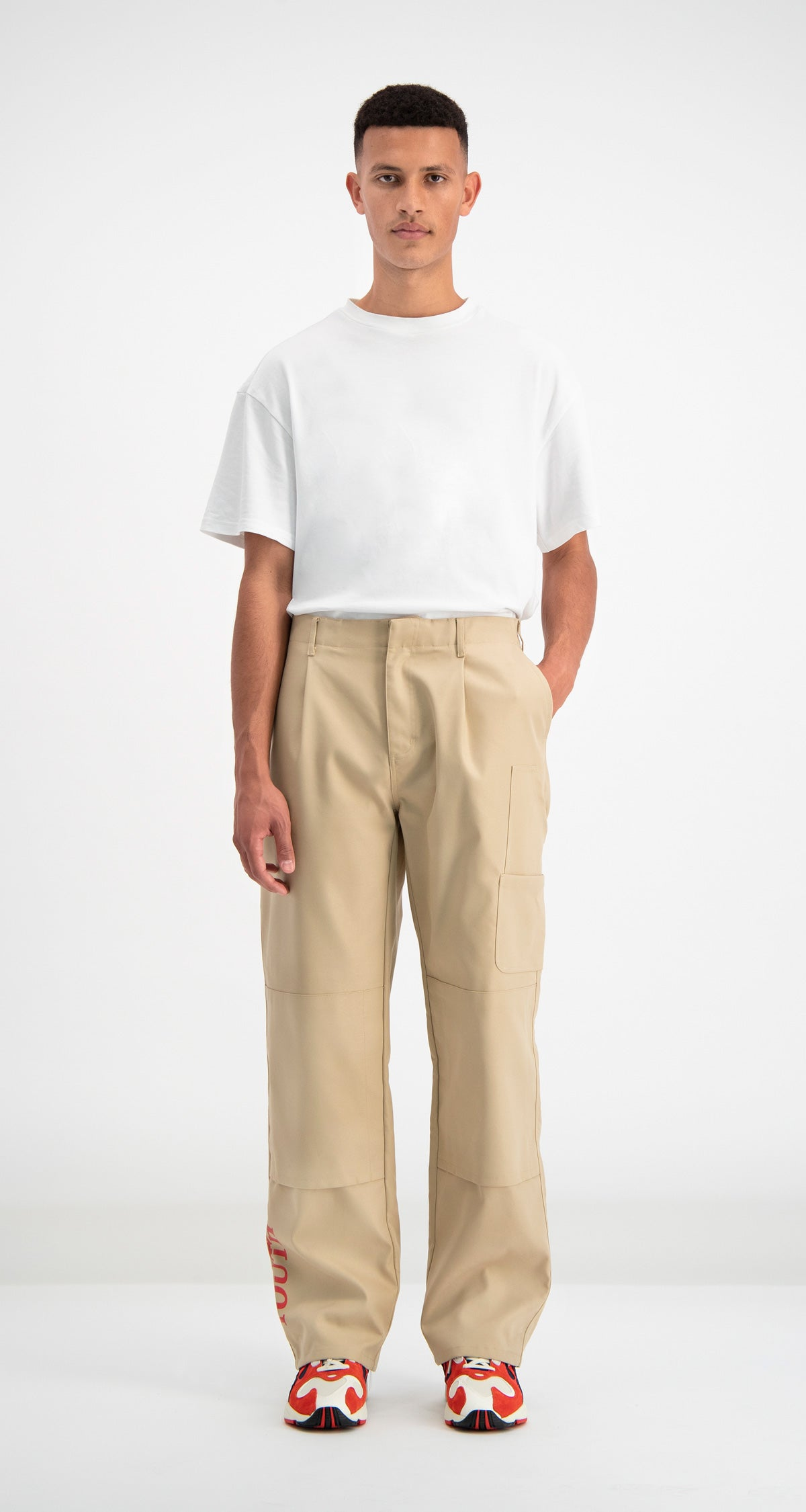 Daily Paper - Beige Defac Pants Men Front