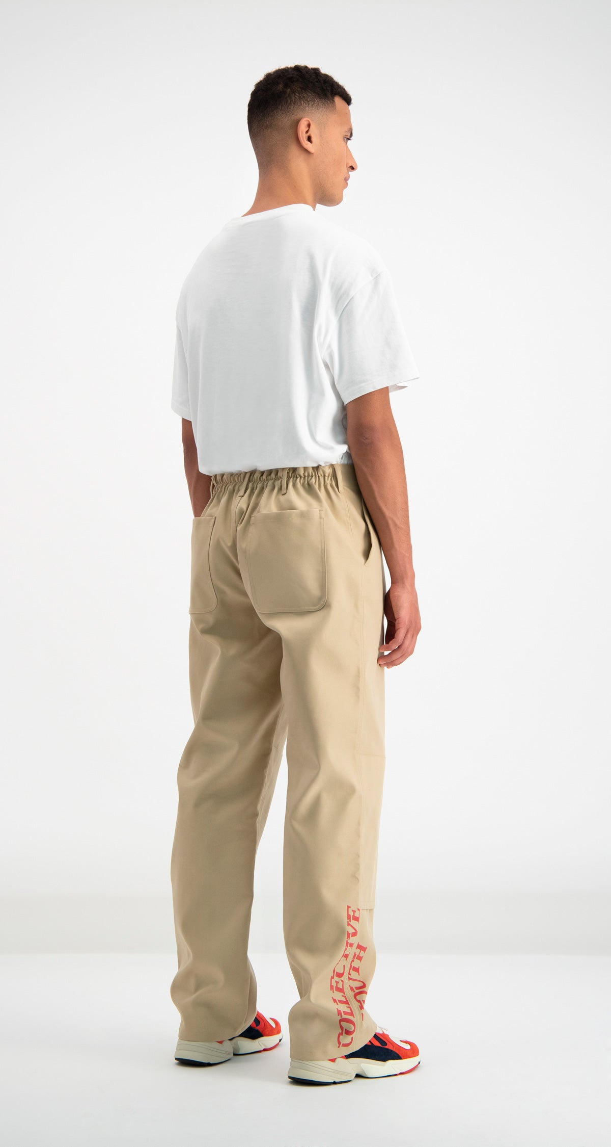 Daily Paper - Beige Defac Pants Men Rear