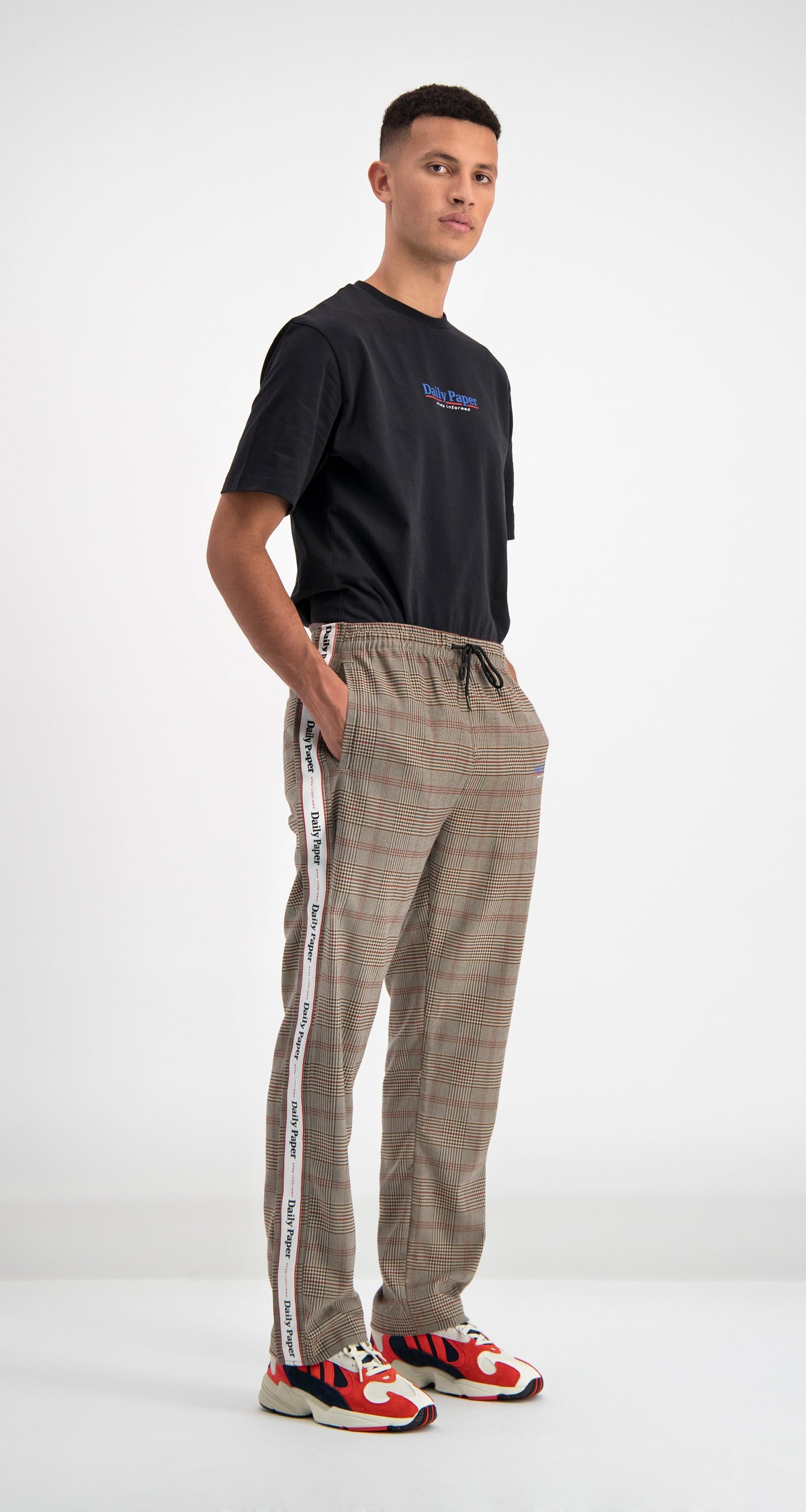 Daily Paper - Brown Checked Dezip Pants Men