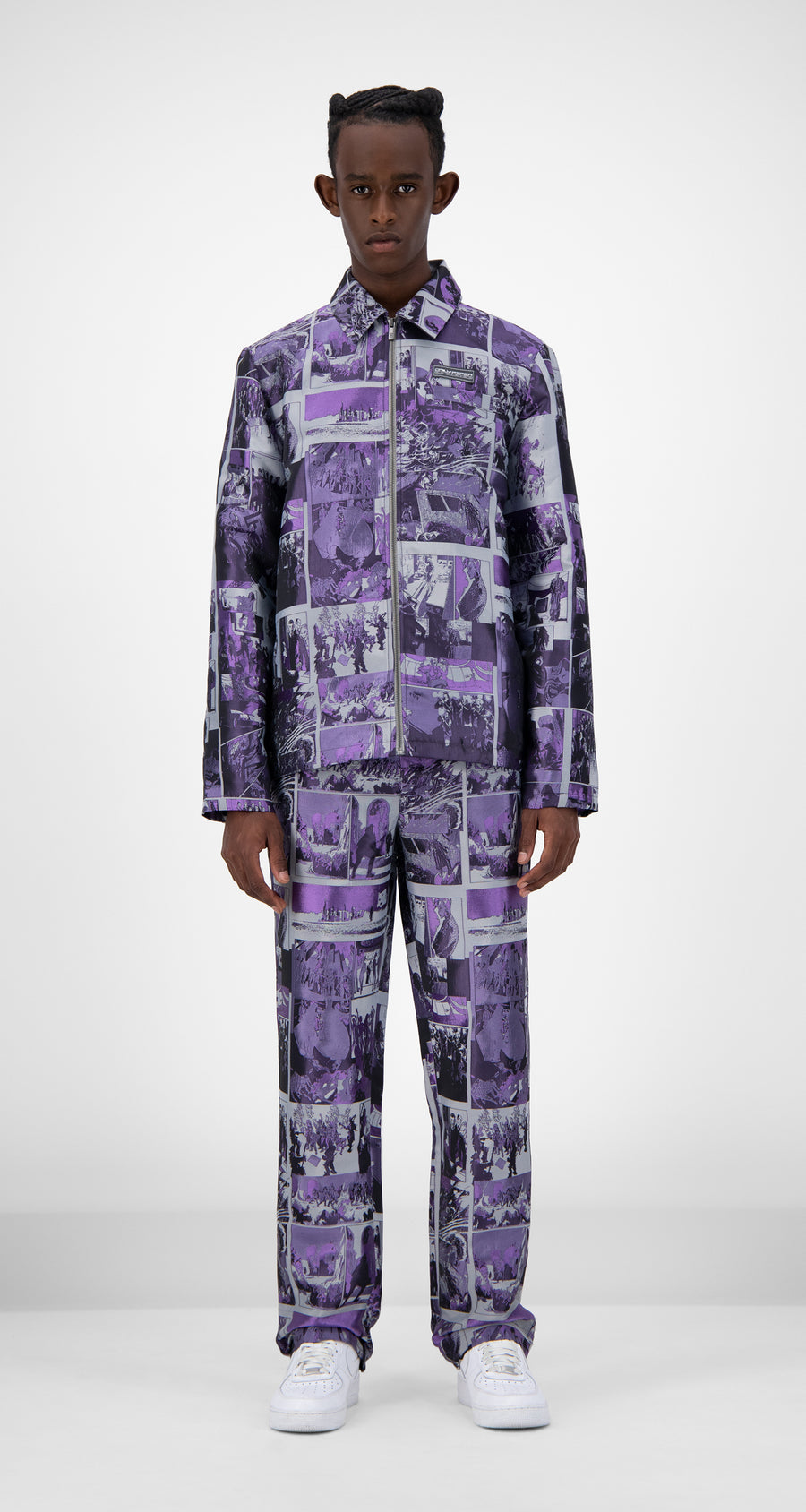 Daily Paper - Purple Comic Jama Jacket - Men Front