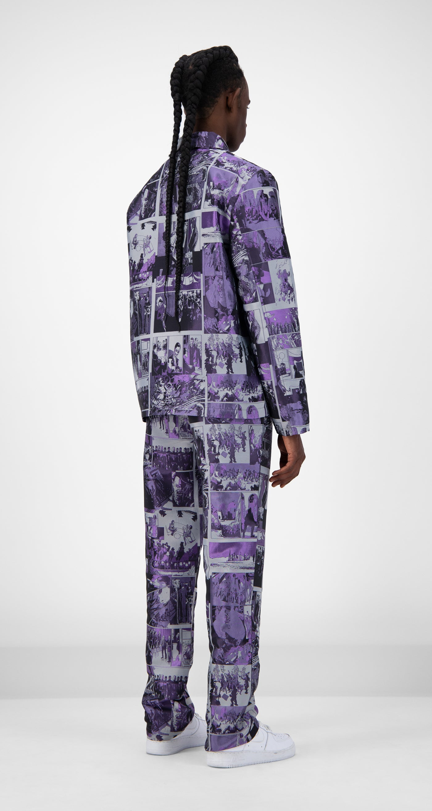 Daily Paper - Purple Comic Jama Jacket - Men Rear