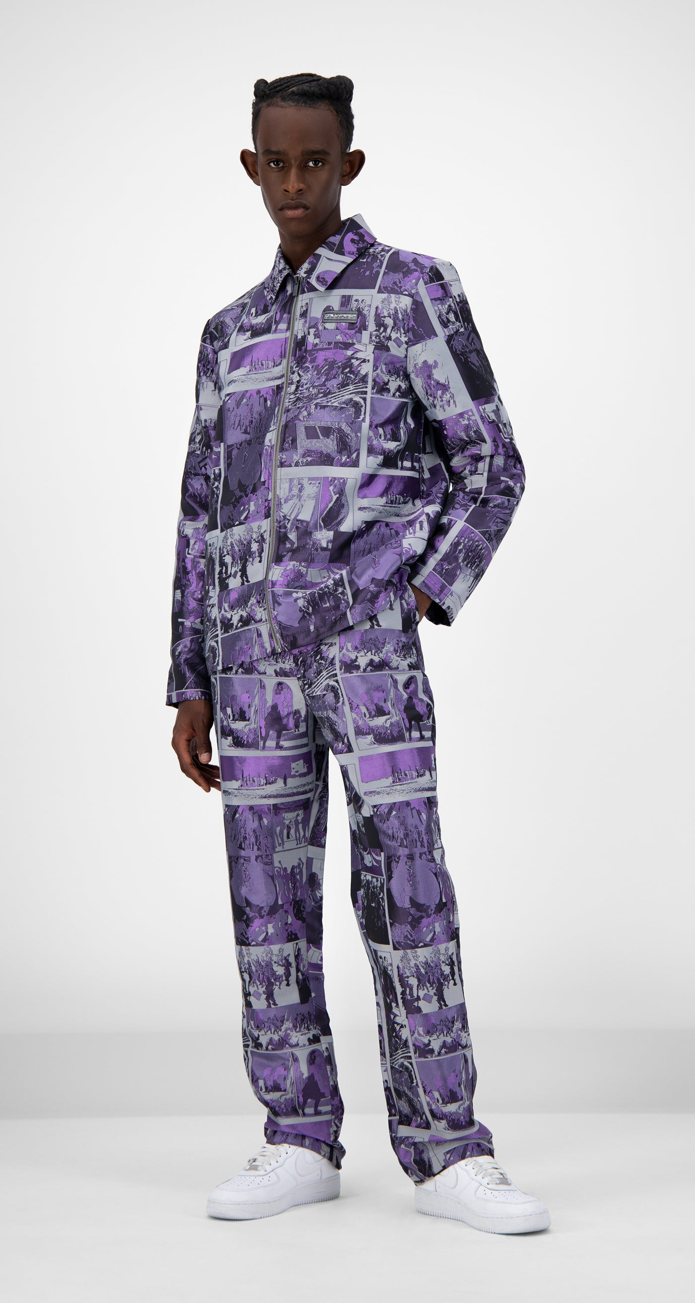 Daily Paper - Purple Comic Jama Jacket - Men