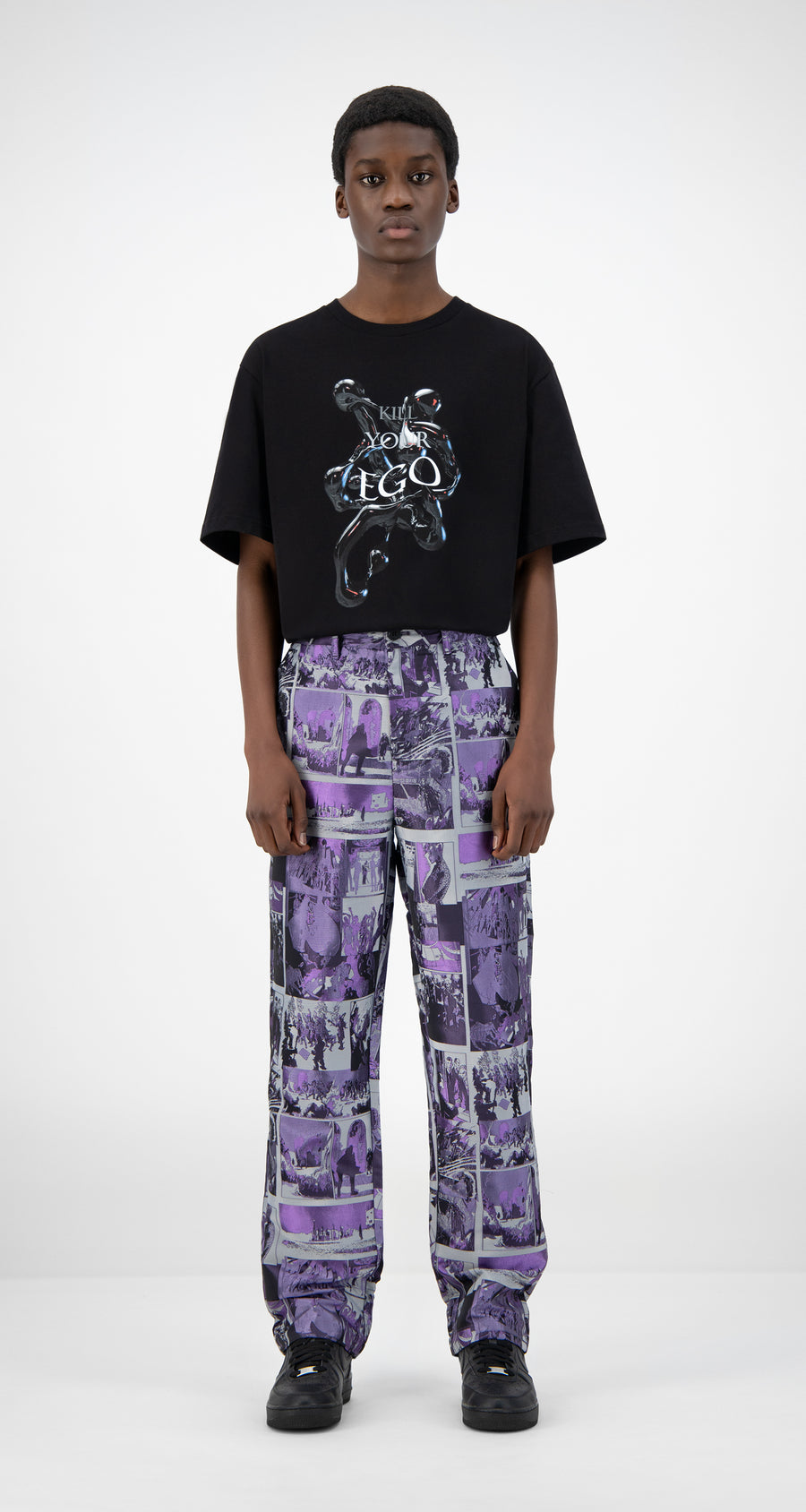 Daily Paper - Purple Comic Jezip Pants - Men Front