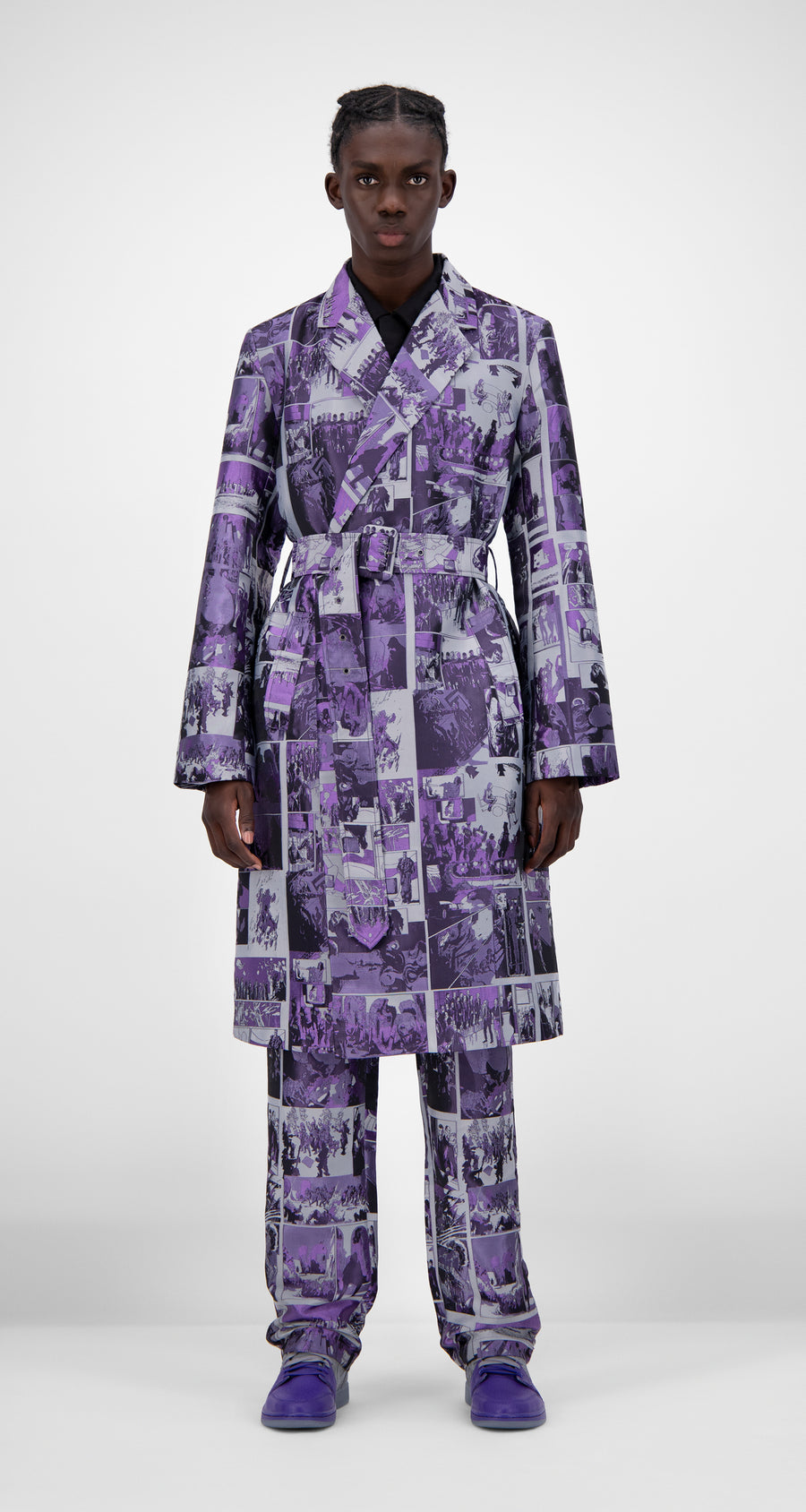 Daily Paper - Purple Comic Jokim Coat - Men Front